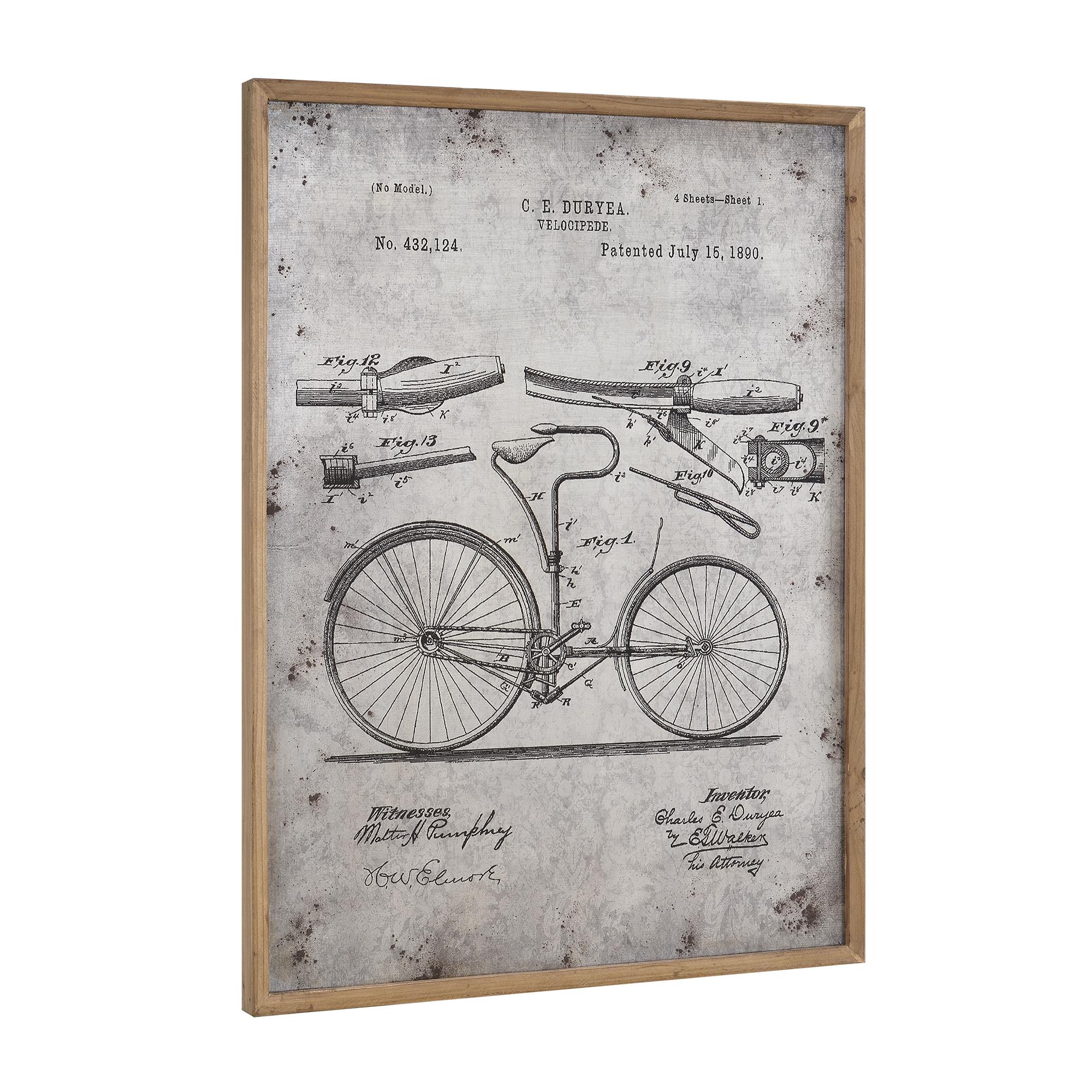 art.work] Alu Wandbild 80x60cm Fahrrad Skizze Technische Zeichnung ...