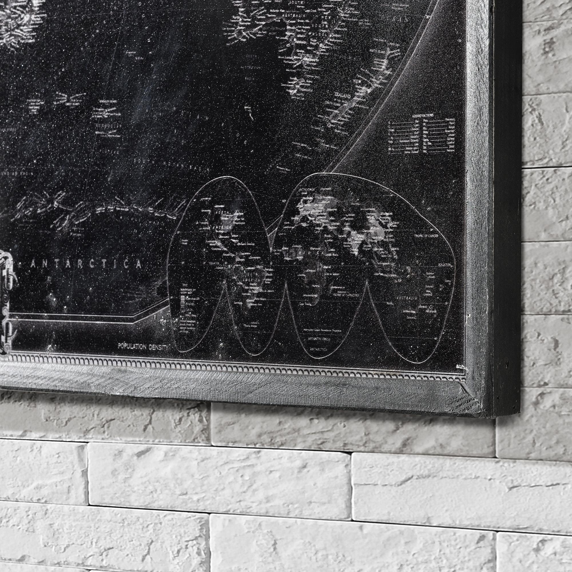 art work alu wandbild 80x60cm alte weltkarte globus erdkugel bild gerahmt eur 23 09. Black Bedroom Furniture Sets. Home Design Ideas