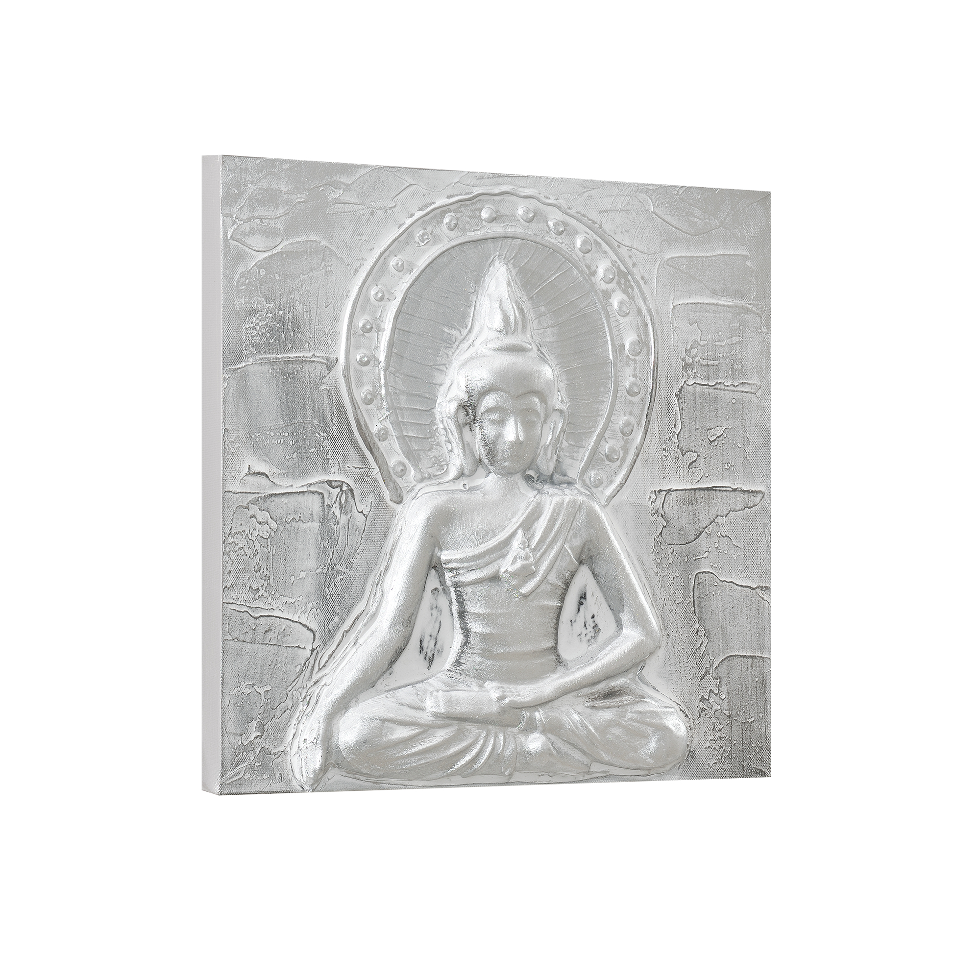 Art.work Wall Painting 30x30cm Buddha Hand-painted Canvas Framed ...