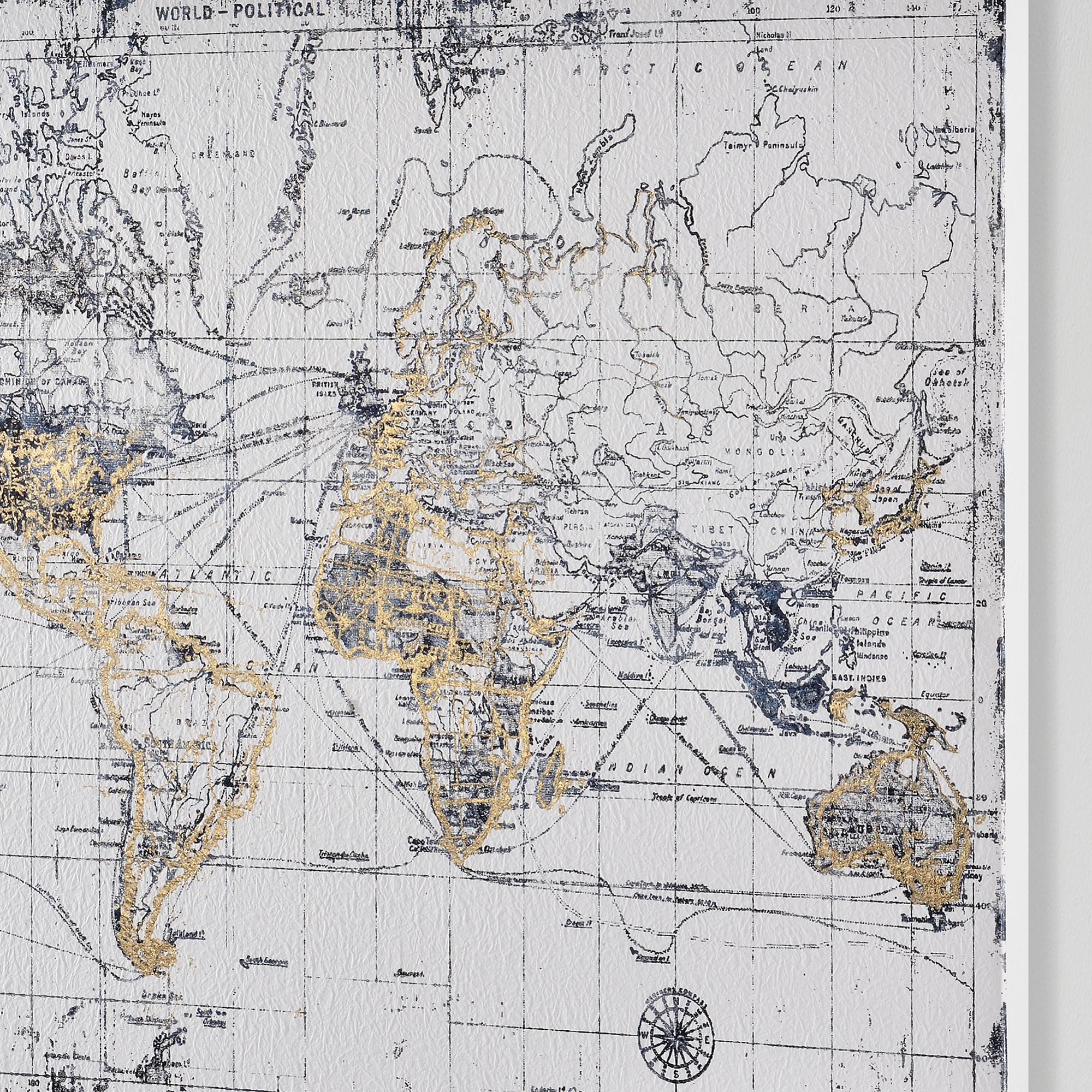Erfreut Weltkarte Mit Stecknadeln Gerahmt Galerie - Rahmen Ideen ...