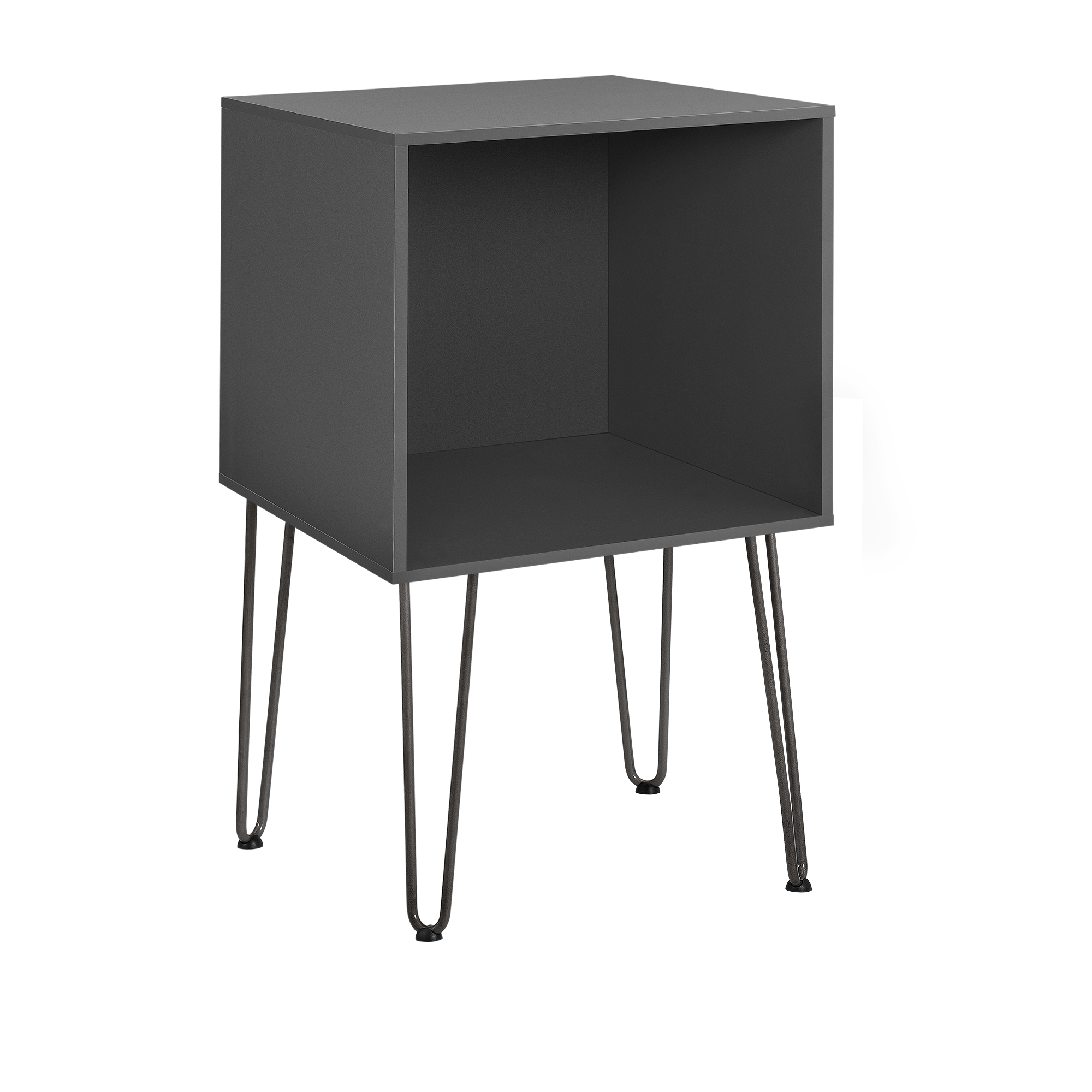 beistelltisch mit hairpin legs nachttisch. Black Bedroom Furniture Sets. Home Design Ideas