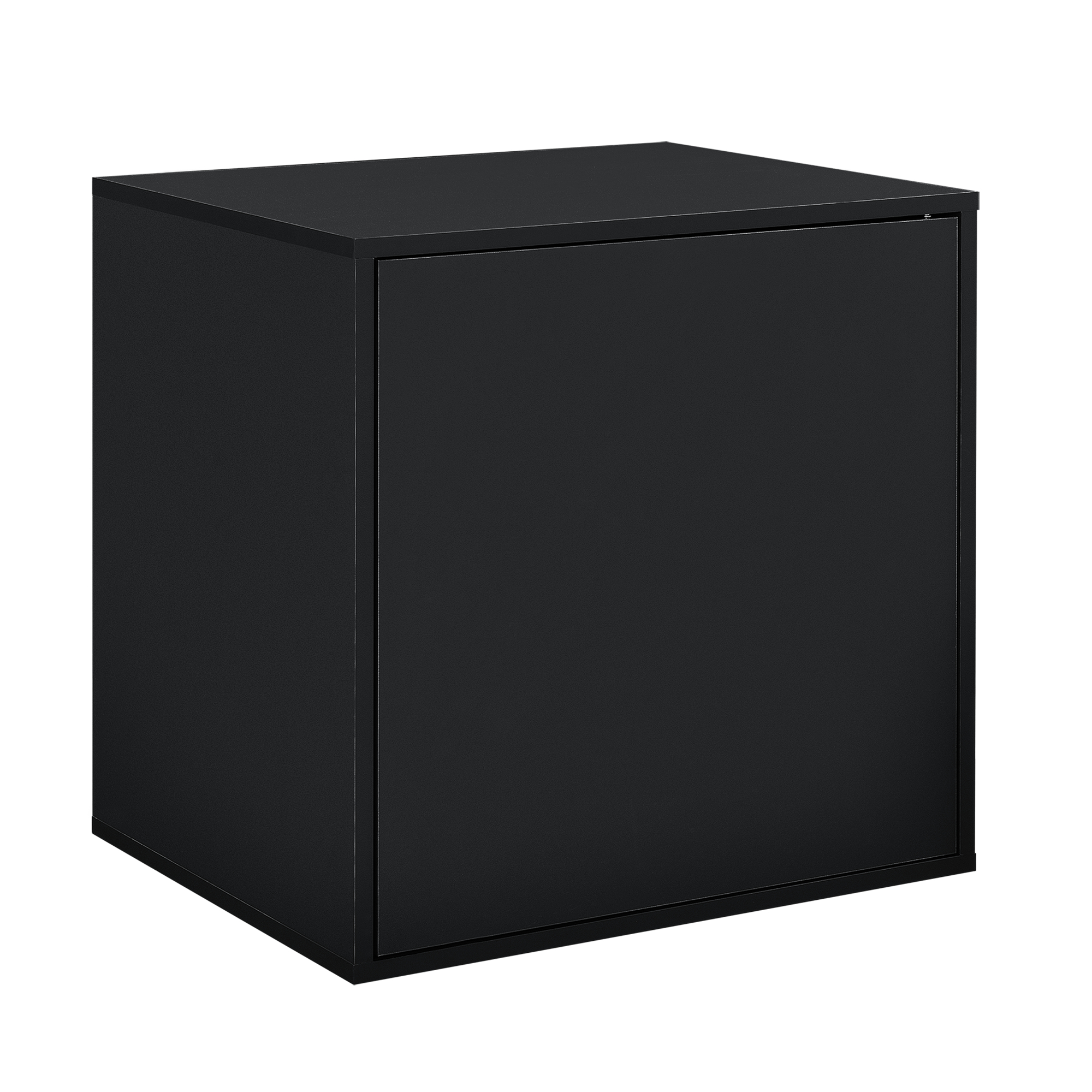 h ngeschrank 45x45x40cm schwarz wandschrank schrank wandregal regal ebay. Black Bedroom Furniture Sets. Home Design Ideas