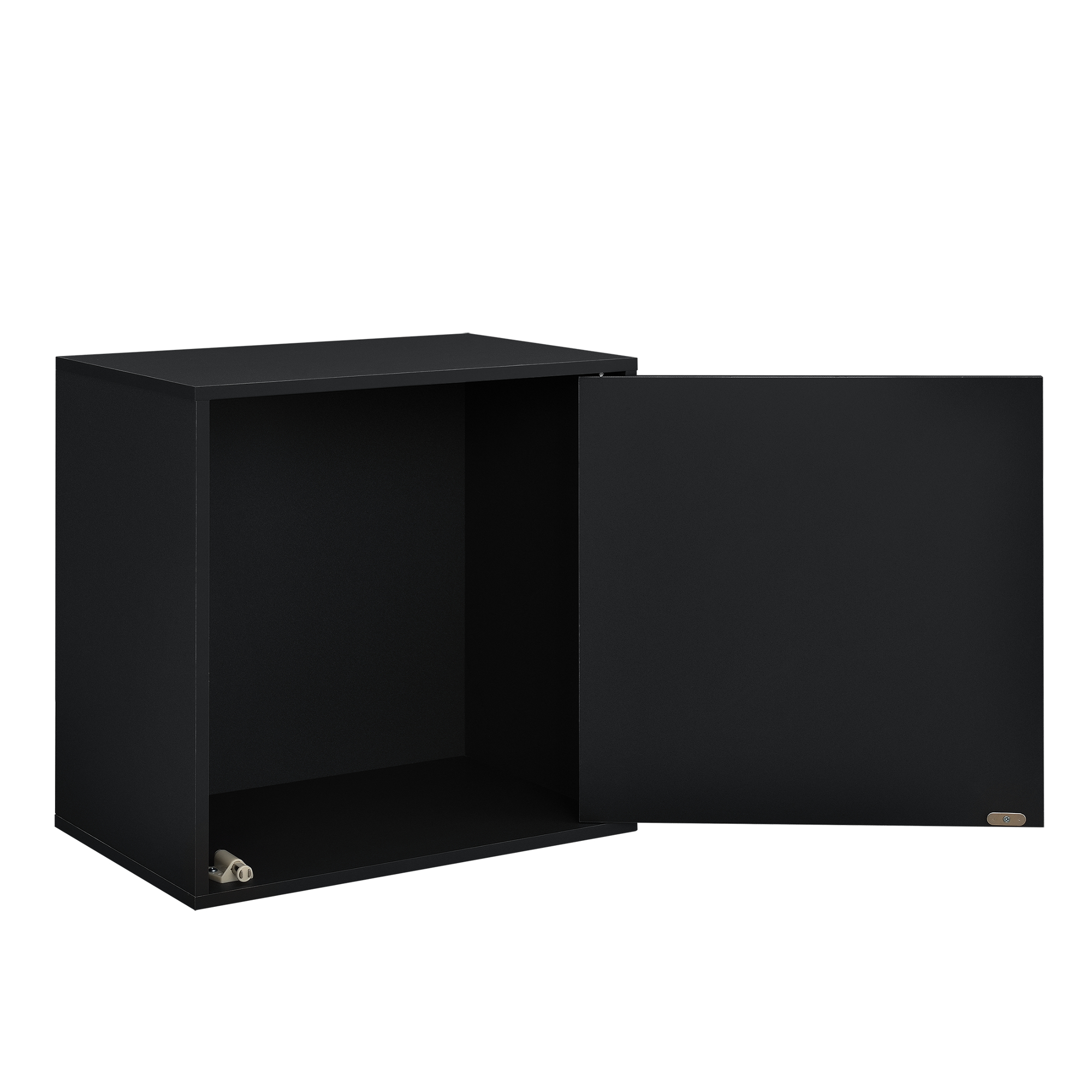 h ngeschrank 45x45x30cm schwarz wandschrank schrank wandregal regal ebay. Black Bedroom Furniture Sets. Home Design Ideas
