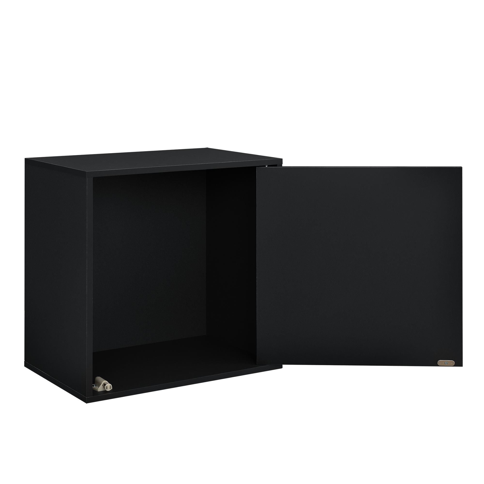 h ngeschrank 45x45x30cm schwarz wandschrank schrank wandregal regal ebay. Black Bedroom Furniture Sets. Home Design Ideas