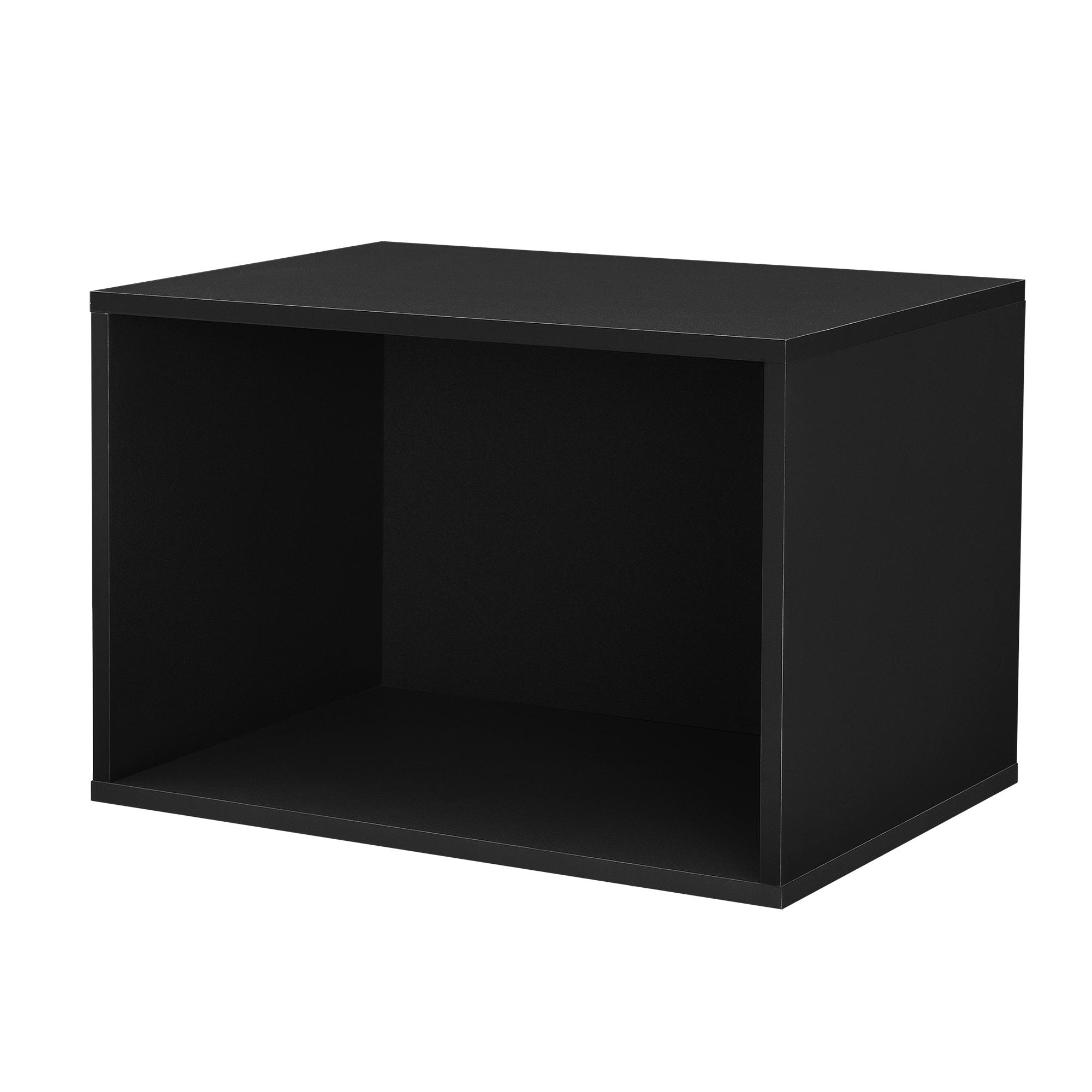 regal 45x30x30cm schwarz wandregal h ngeregal b cherregal kombinierbar ebay. Black Bedroom Furniture Sets. Home Design Ideas