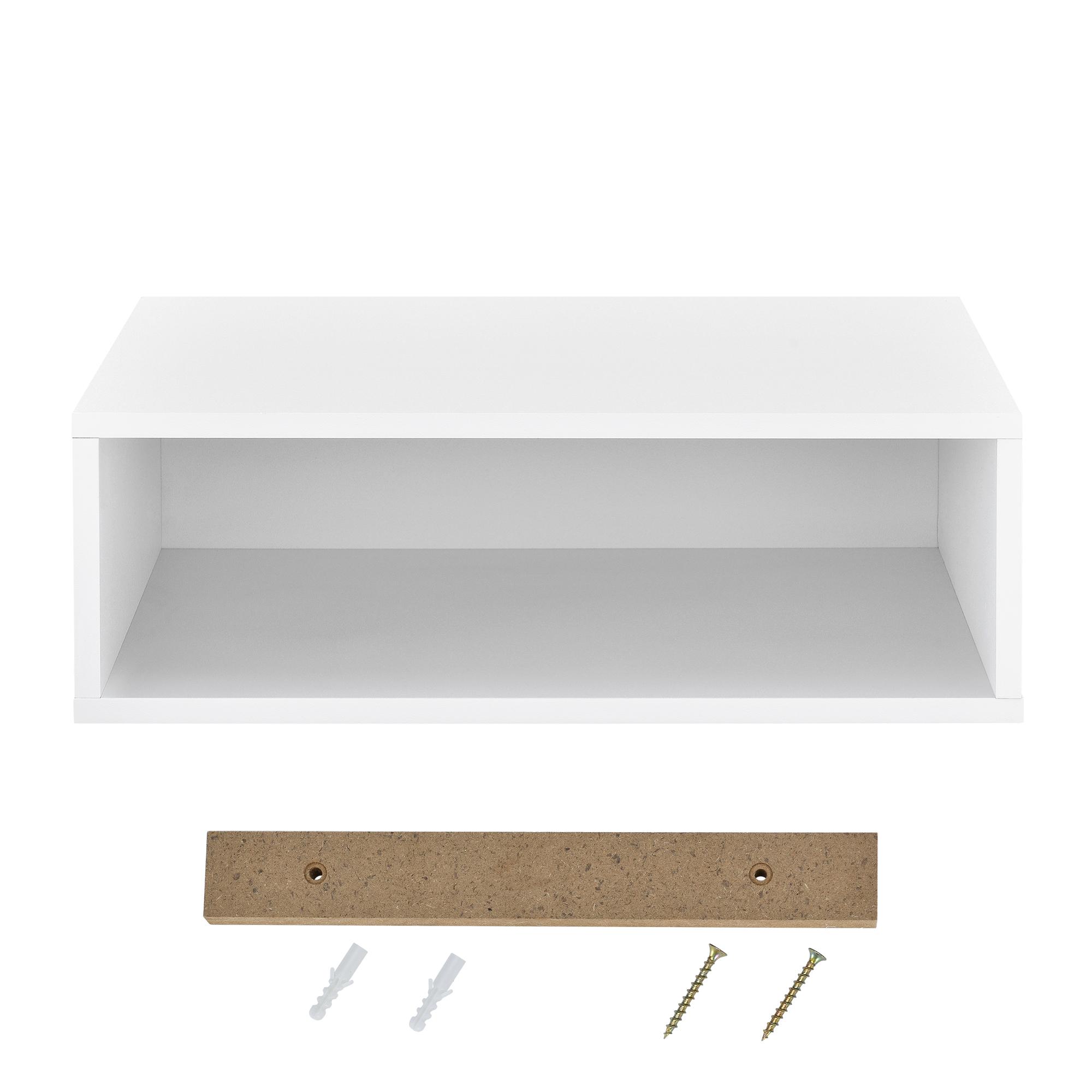 [en.casa]® Regal 45x15x30cm Weiß Wandregal Hängeregal Bücherregal Kombinierbar | eBay
