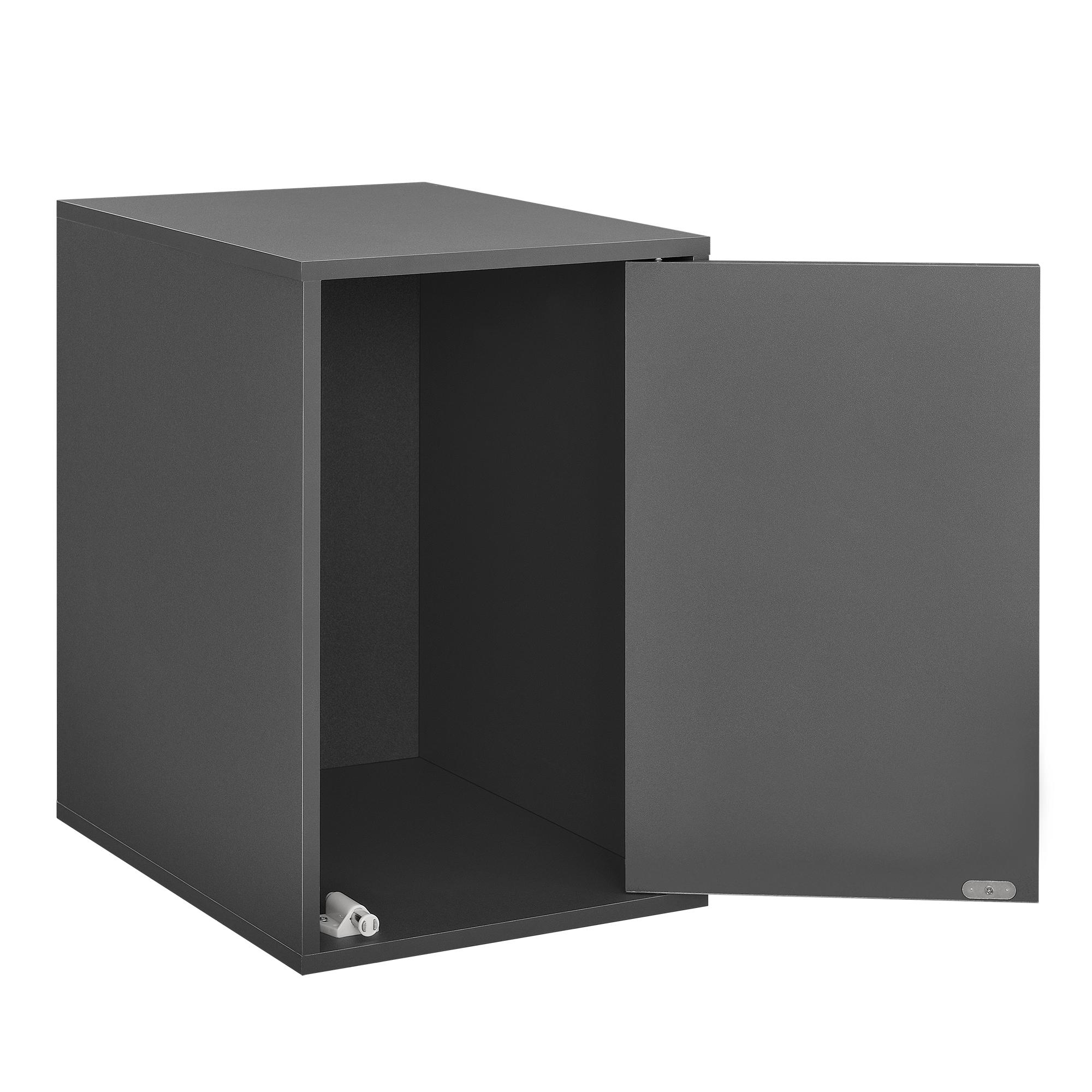 h ngeschrank 30x45x40cm grau wandschrank schrank wandregal regal ebay. Black Bedroom Furniture Sets. Home Design Ideas
