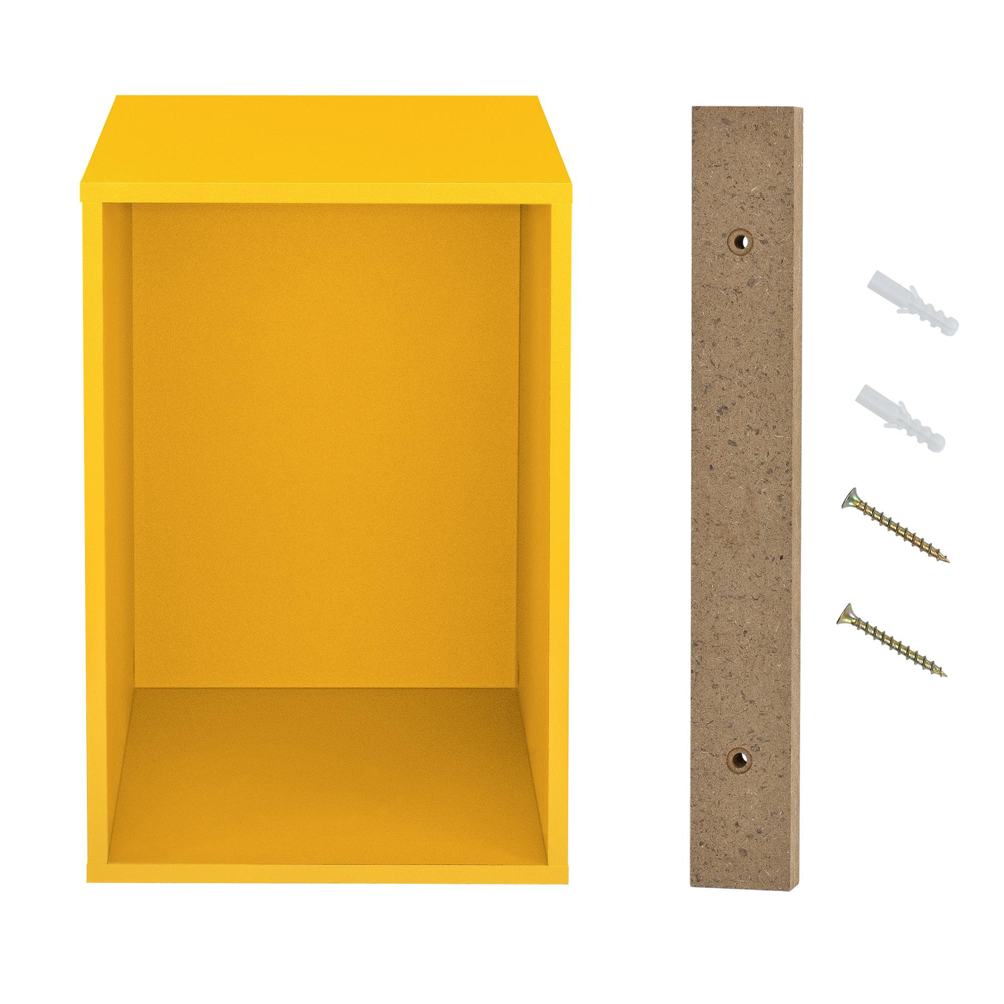 h ngeschrank 30x45x40cm senfgelb wandschrank schrank wandregal regal ebay. Black Bedroom Furniture Sets. Home Design Ideas