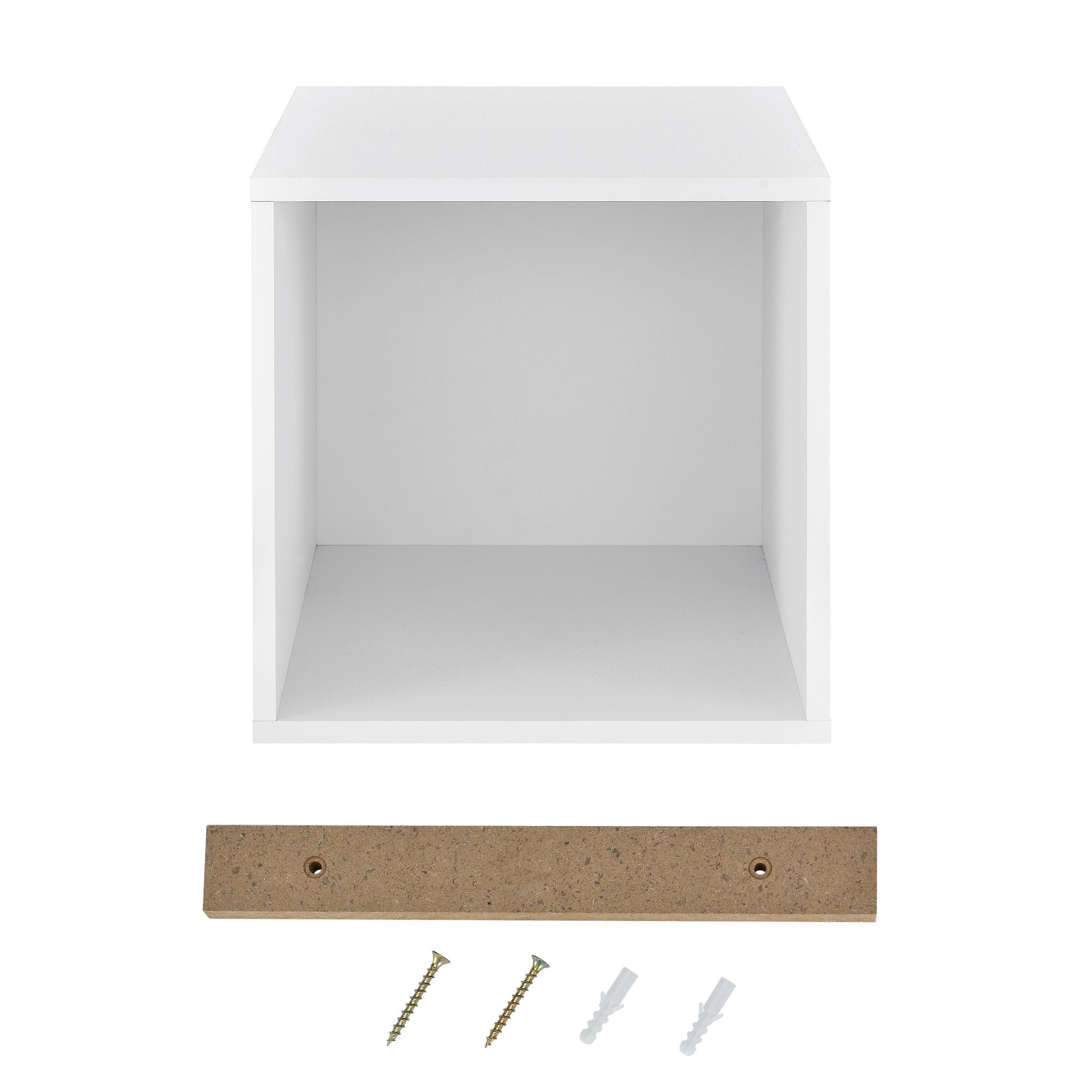 ® Étagère 30x30x40cm bois murale suspendu étagère de bibliothèque étagère à combiner en. casa