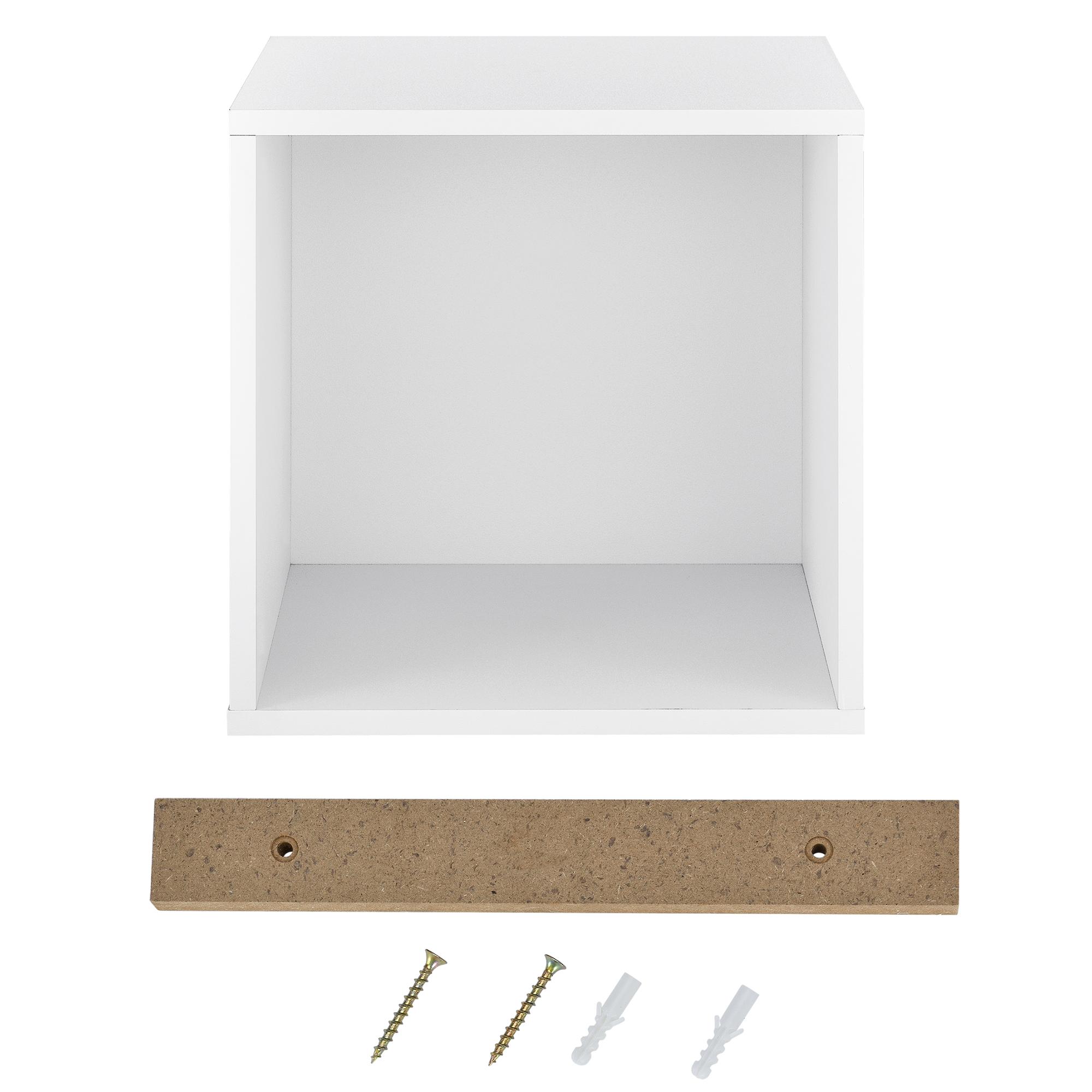 regal 30x30x30cm wei wandregal h ngeregal b cherregal kombinierbar ebay. Black Bedroom Furniture Sets. Home Design Ideas