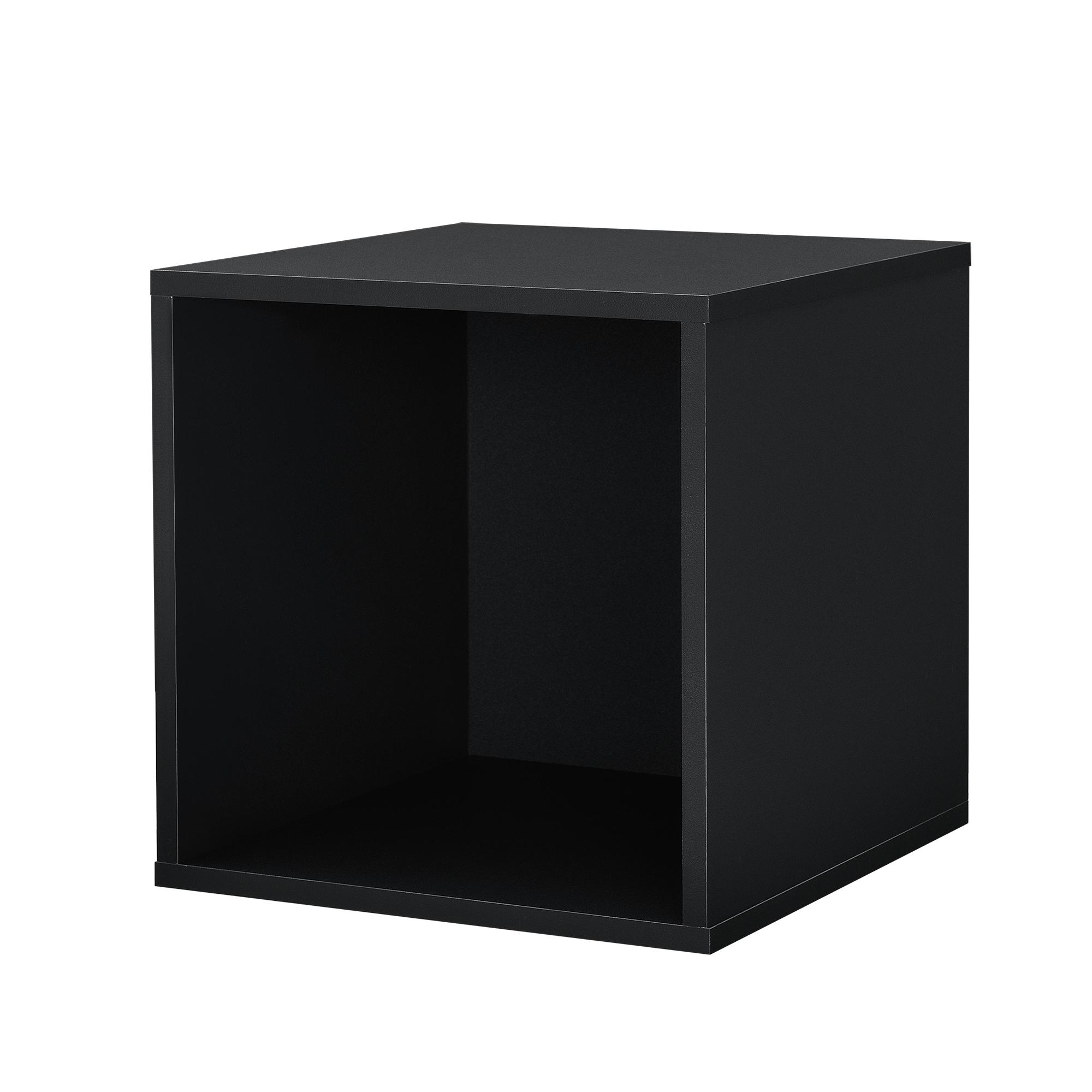 regal 30x30x30cm schwarz wandregal h ngeregal b cherregal kombinierbar ebay. Black Bedroom Furniture Sets. Home Design Ideas