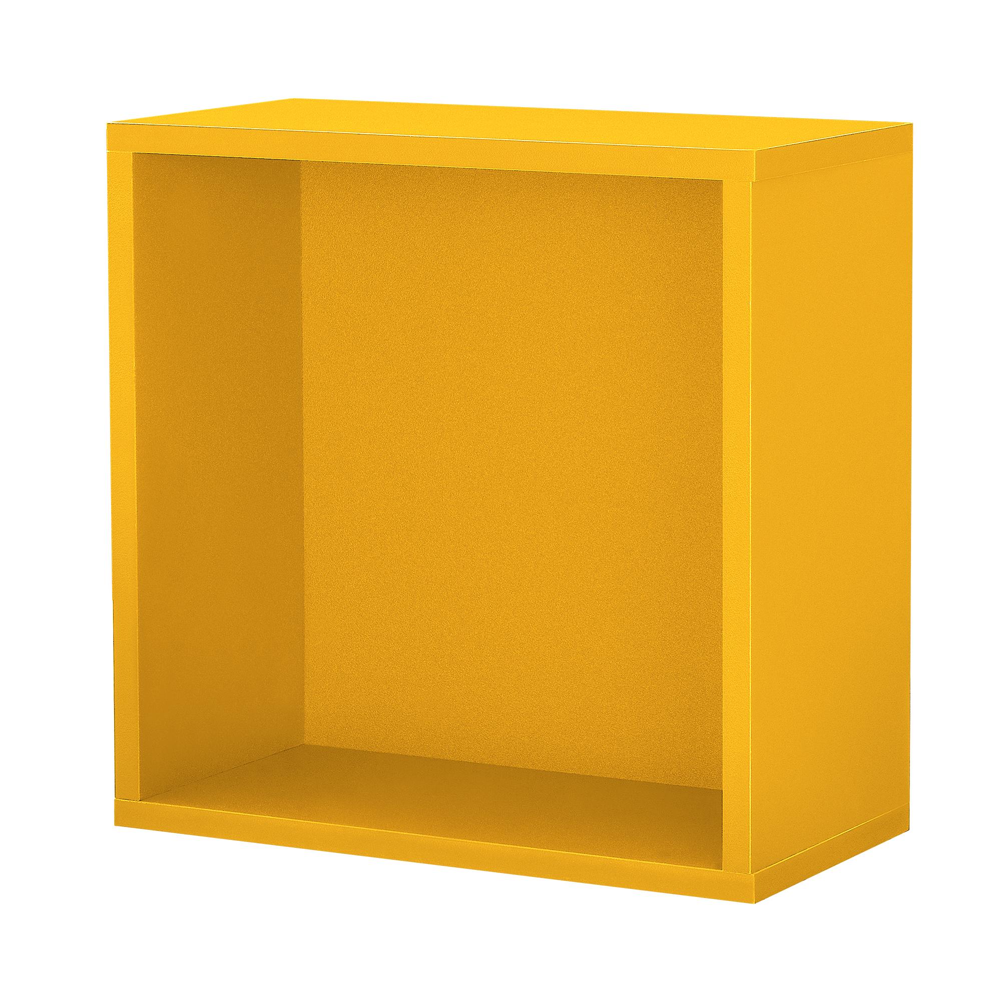 regal 30x30x15cm senfgelb wandregal b roregal h ngeregal kombinierbar 4059438114229. Black Bedroom Furniture Sets. Home Design Ideas