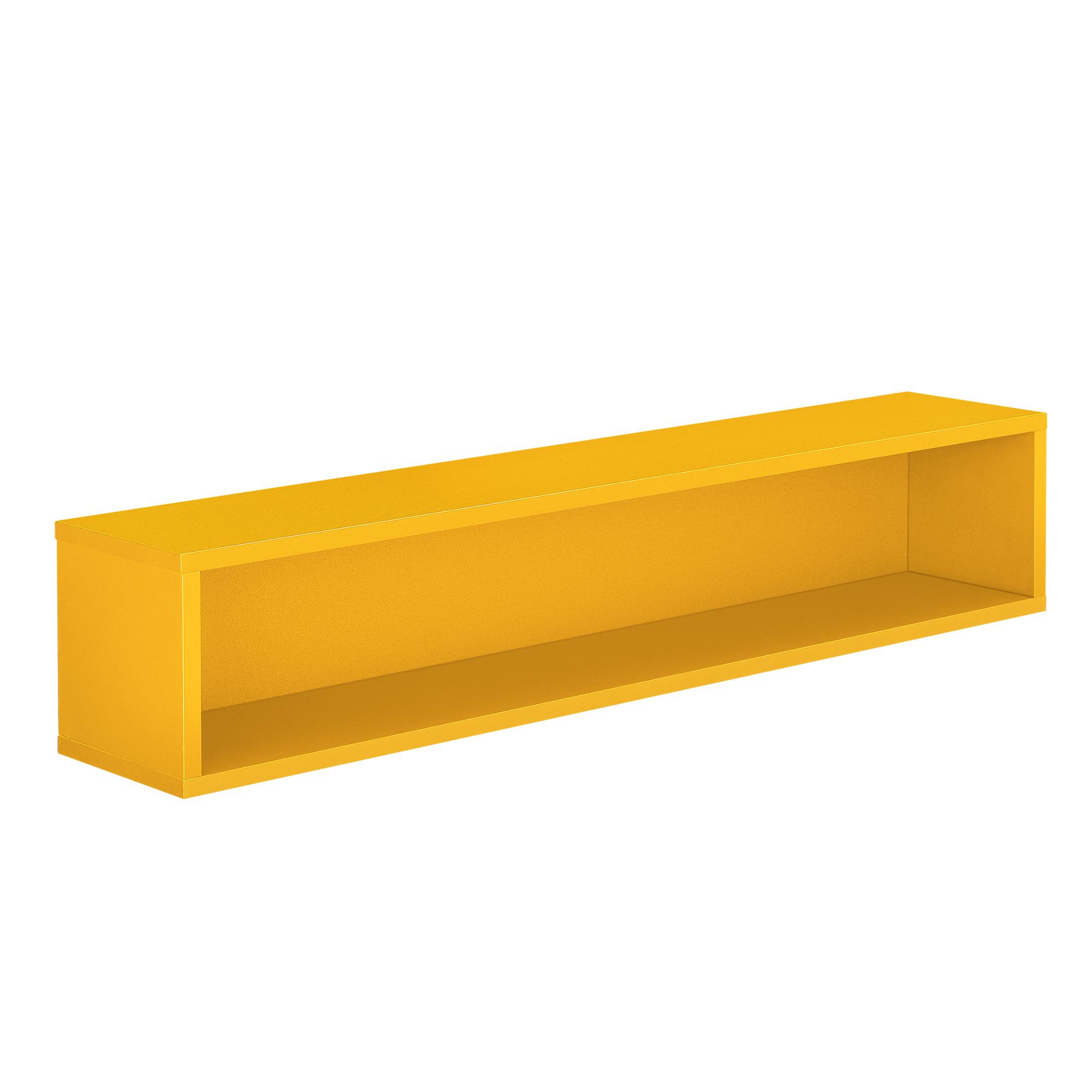 [en.casa]® Regal 75x15x15cm Senfgelb Wandregal Büroregal Hängeregal Kombinierbar | eBay