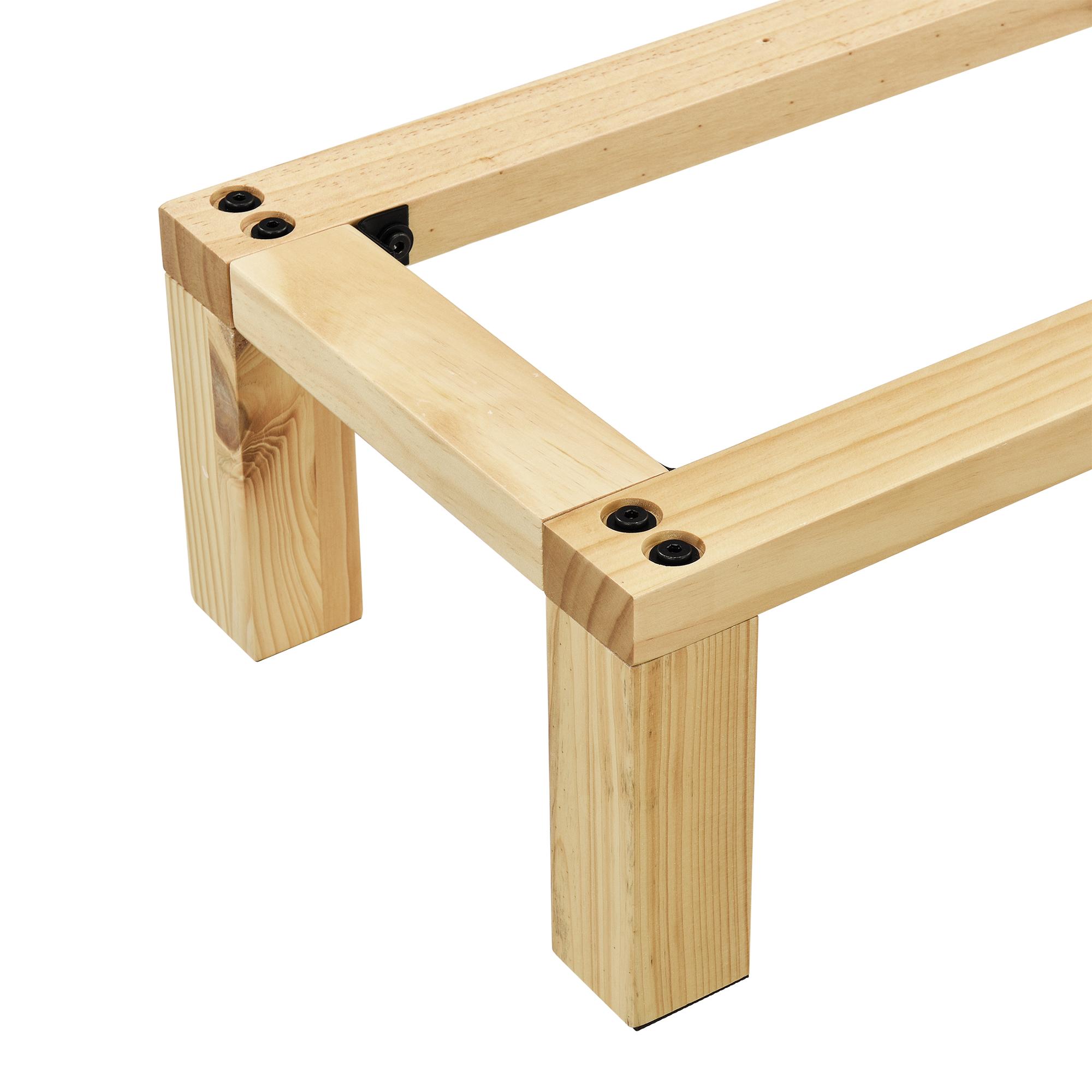 en.casa]® regalgestell 130x30x18cm gestell kommode sideboard
