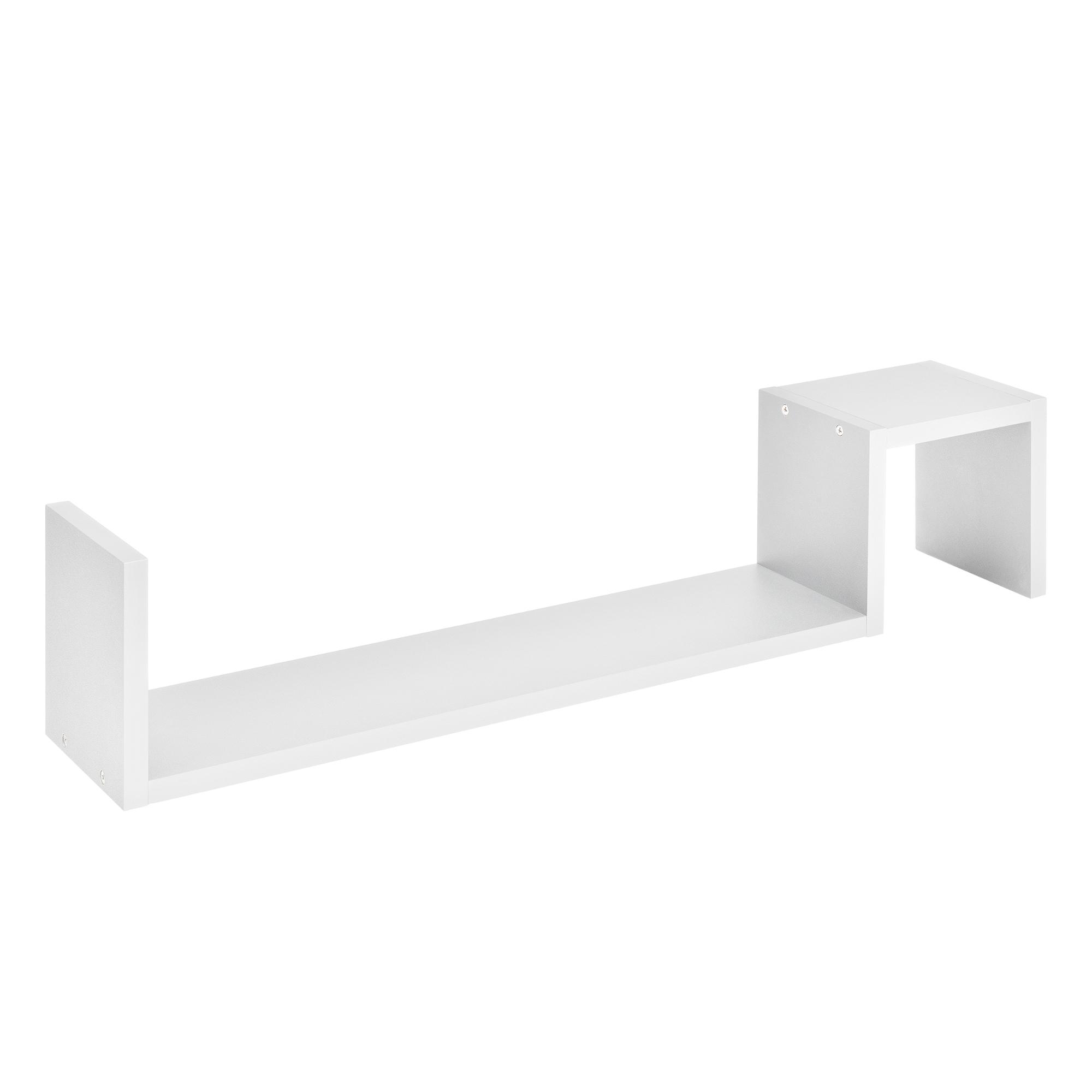 [en.casa]® Designová police na zeď - bílá - model 5