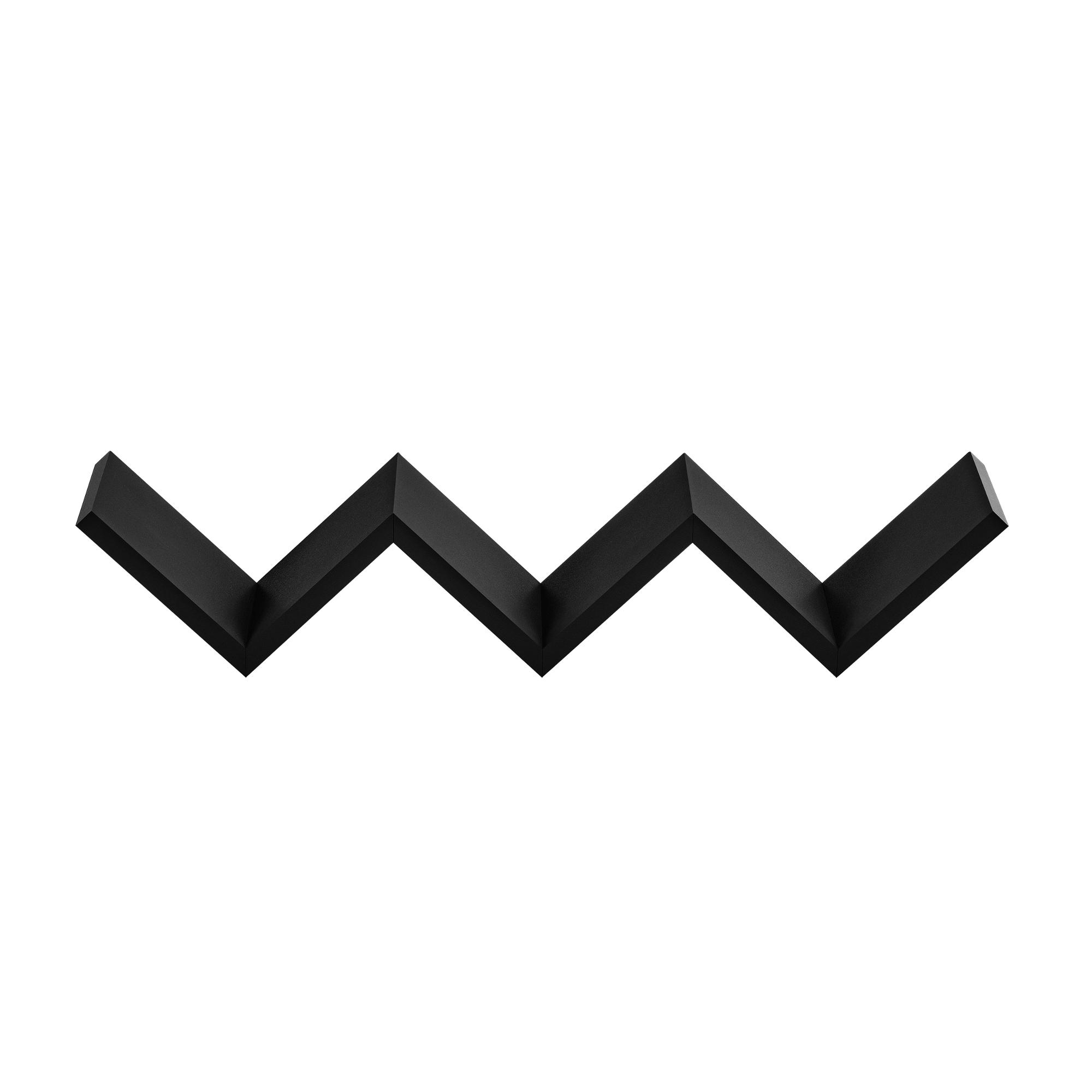 [en.casa]® Designová police na zeď - černá - model 8