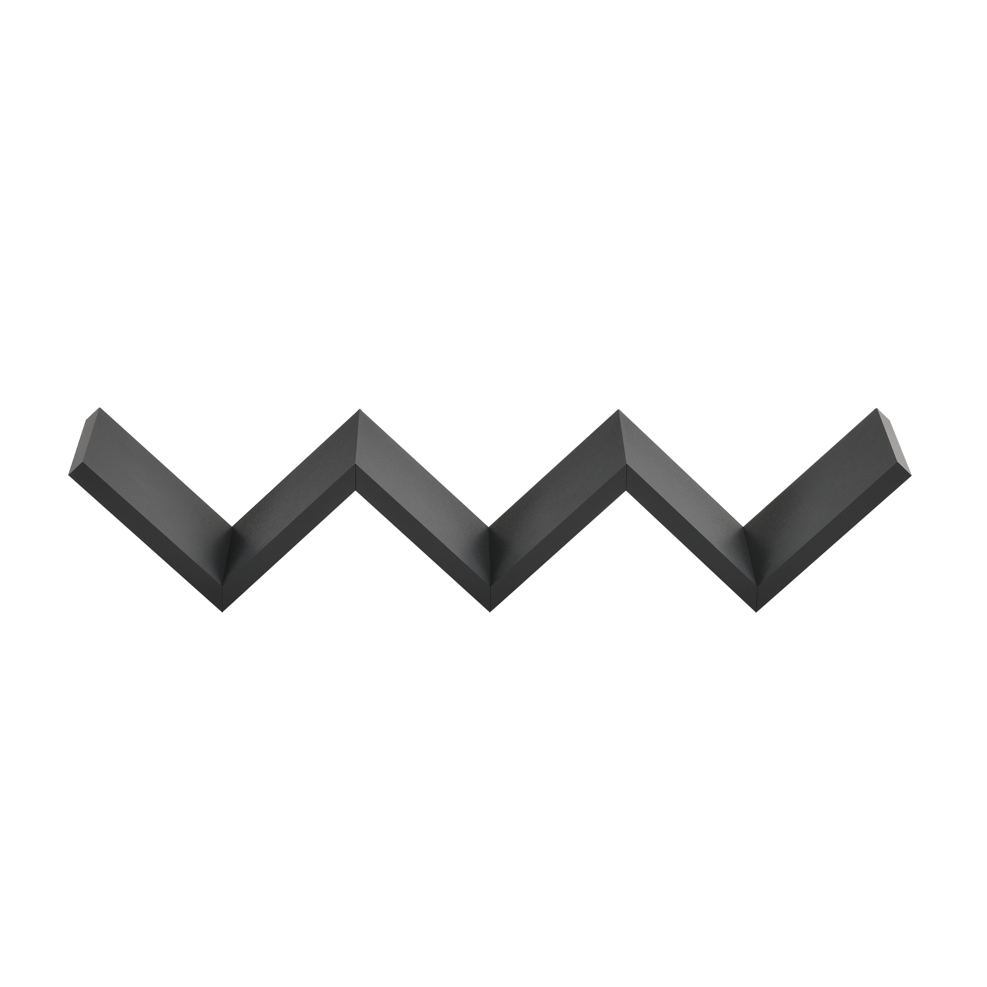 [en.casa]® Designová police na zeď - tmavě šedá - model 8