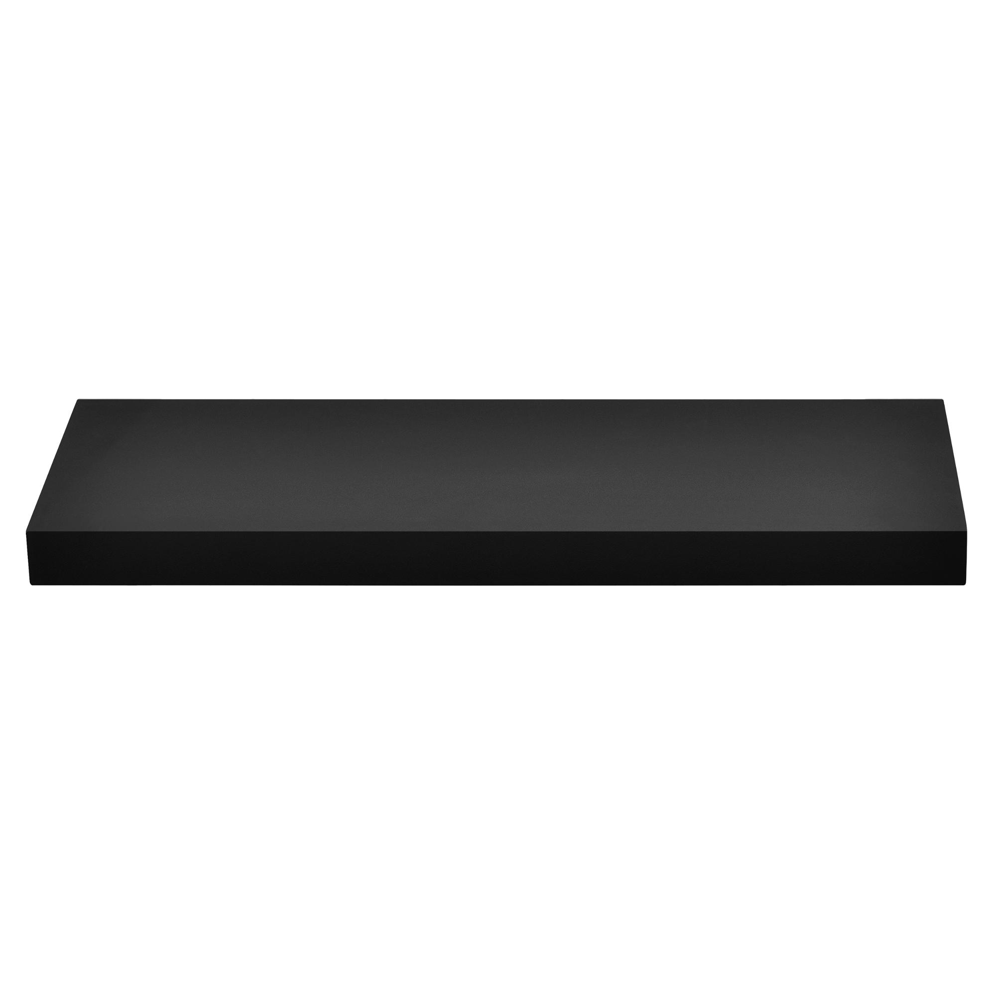 [en.casa]® Designová police na zeď - černá - model 10