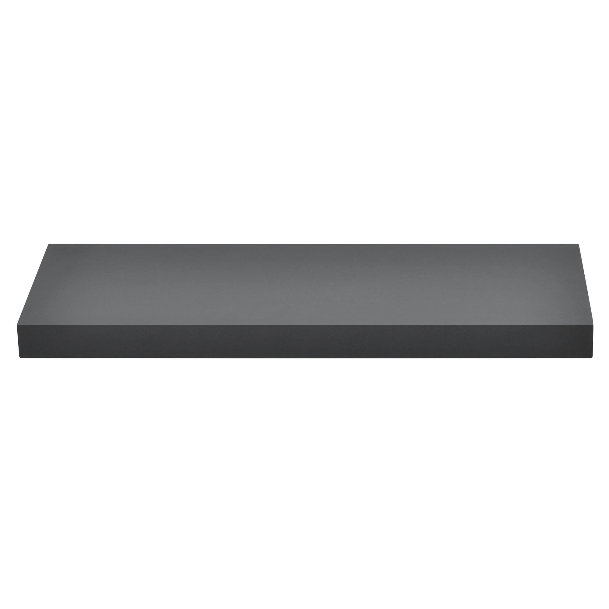 [en.casa]® Designová police na zeď - tmavě šedá - model 10