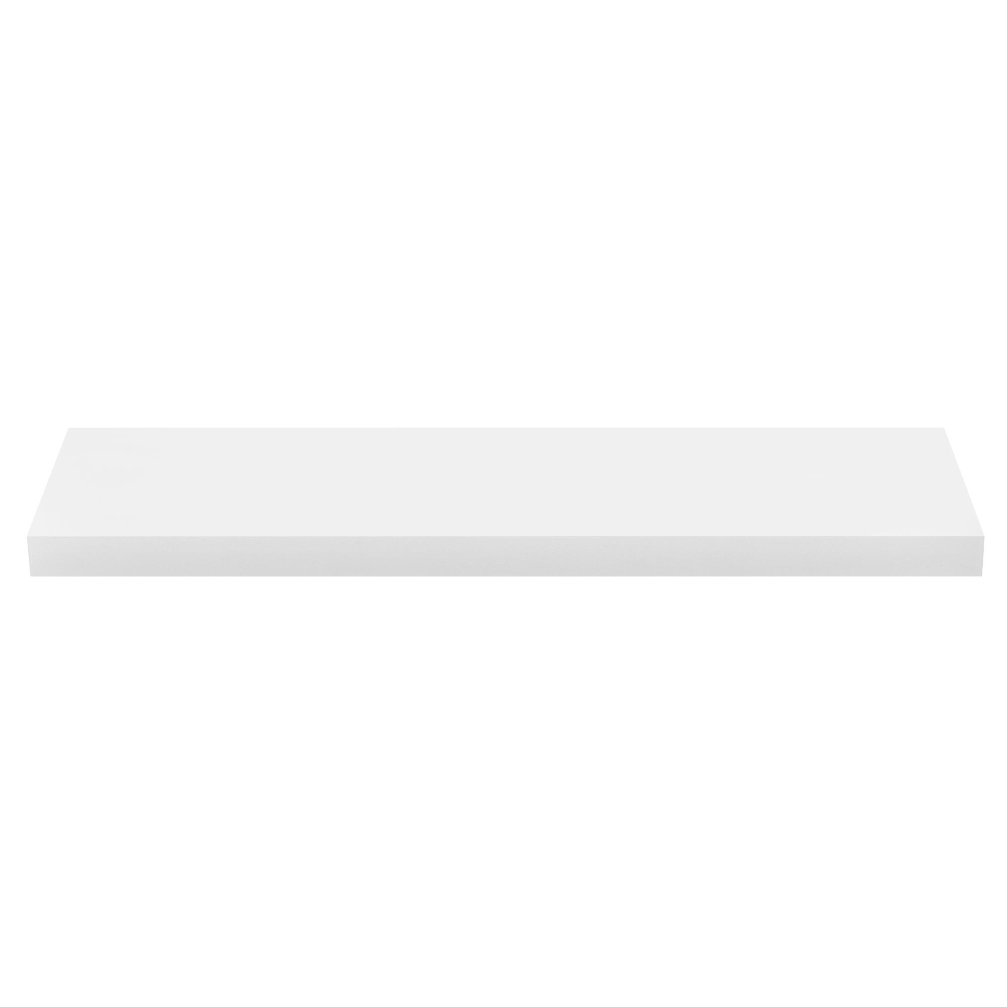 [en.casa]® Designová police na zeď - bílá - model 11