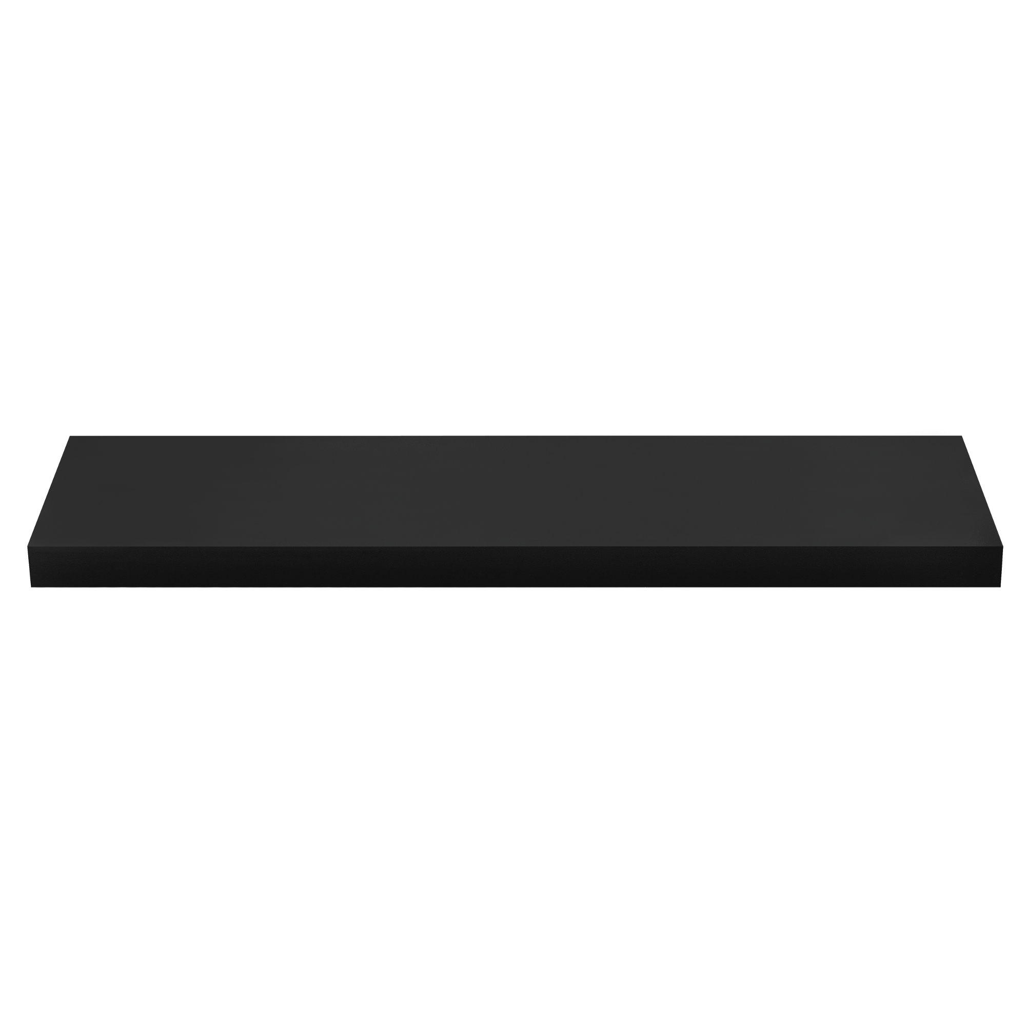 [en.casa]® Designová police na zeď - černá - model 11