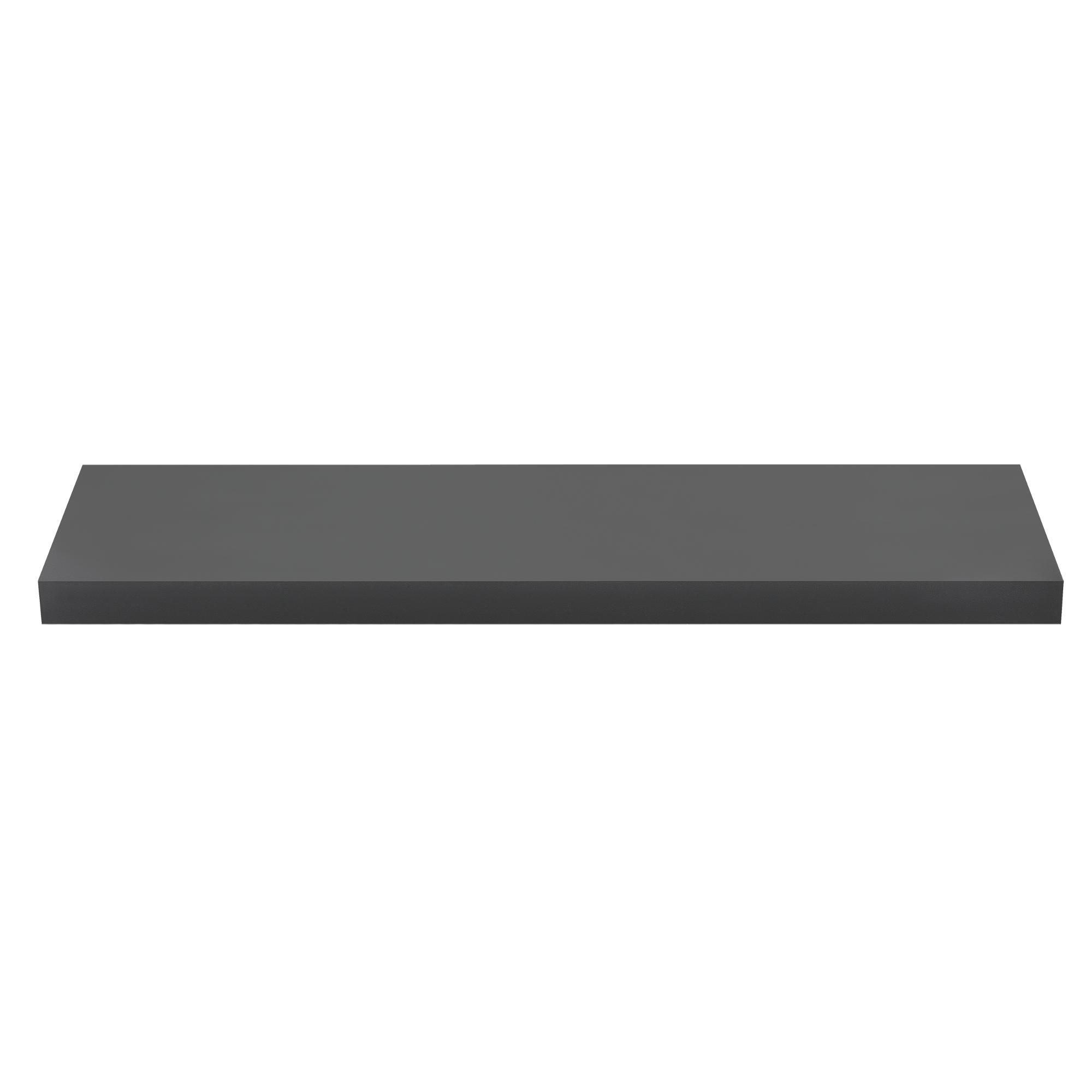 [en.casa]® Designová police na zeď - tmavě šedá - model 11
