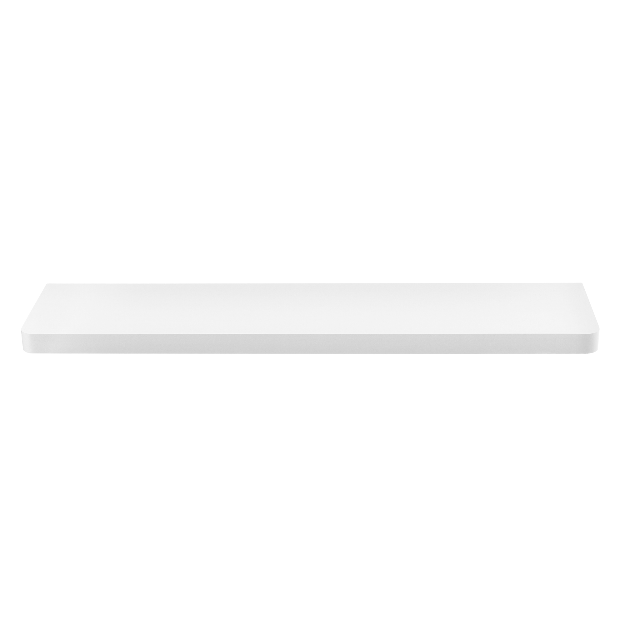 [en.casa]® Designová police na zeď - bílá - model 12