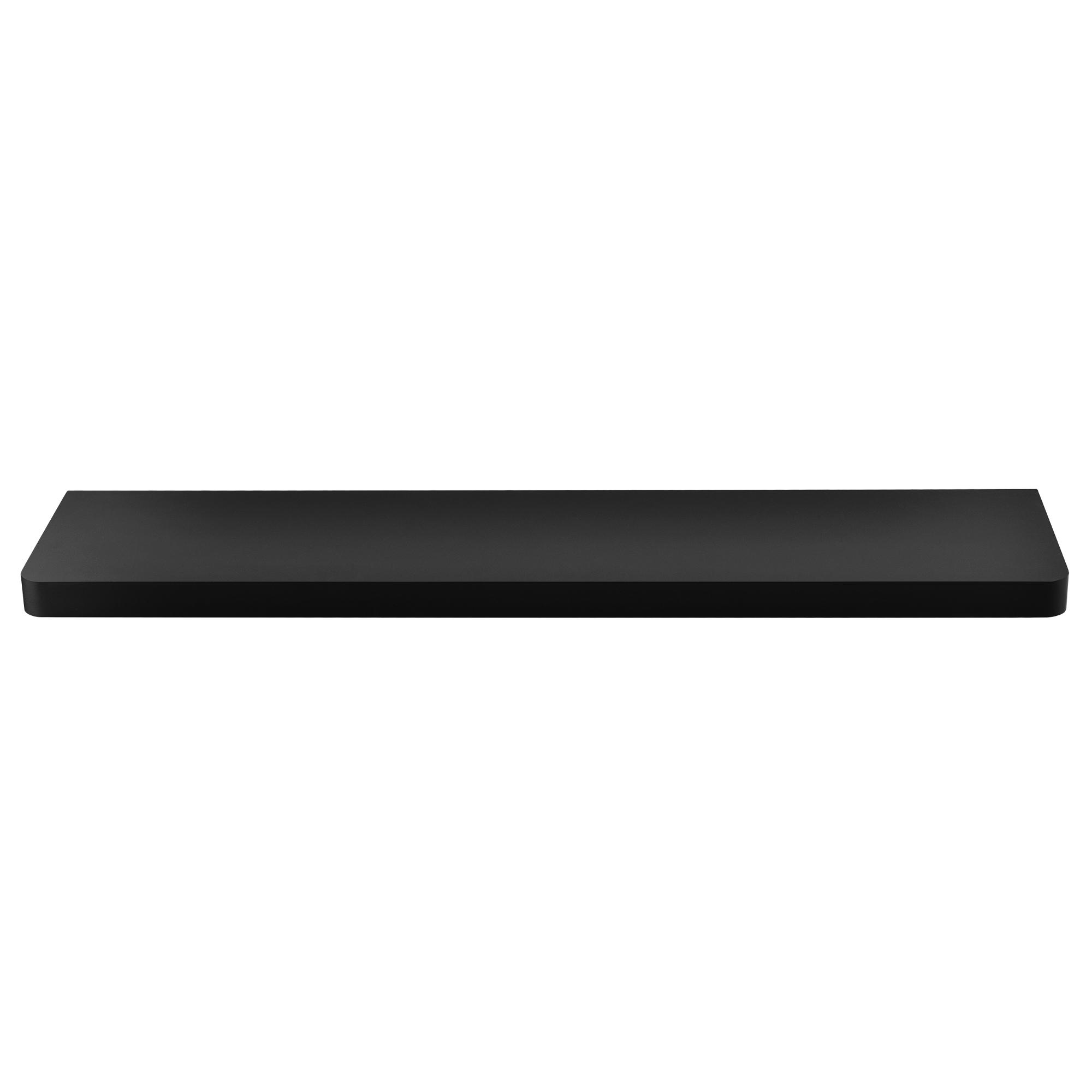 [en.casa]® Designová police na zeď - černá - model 12