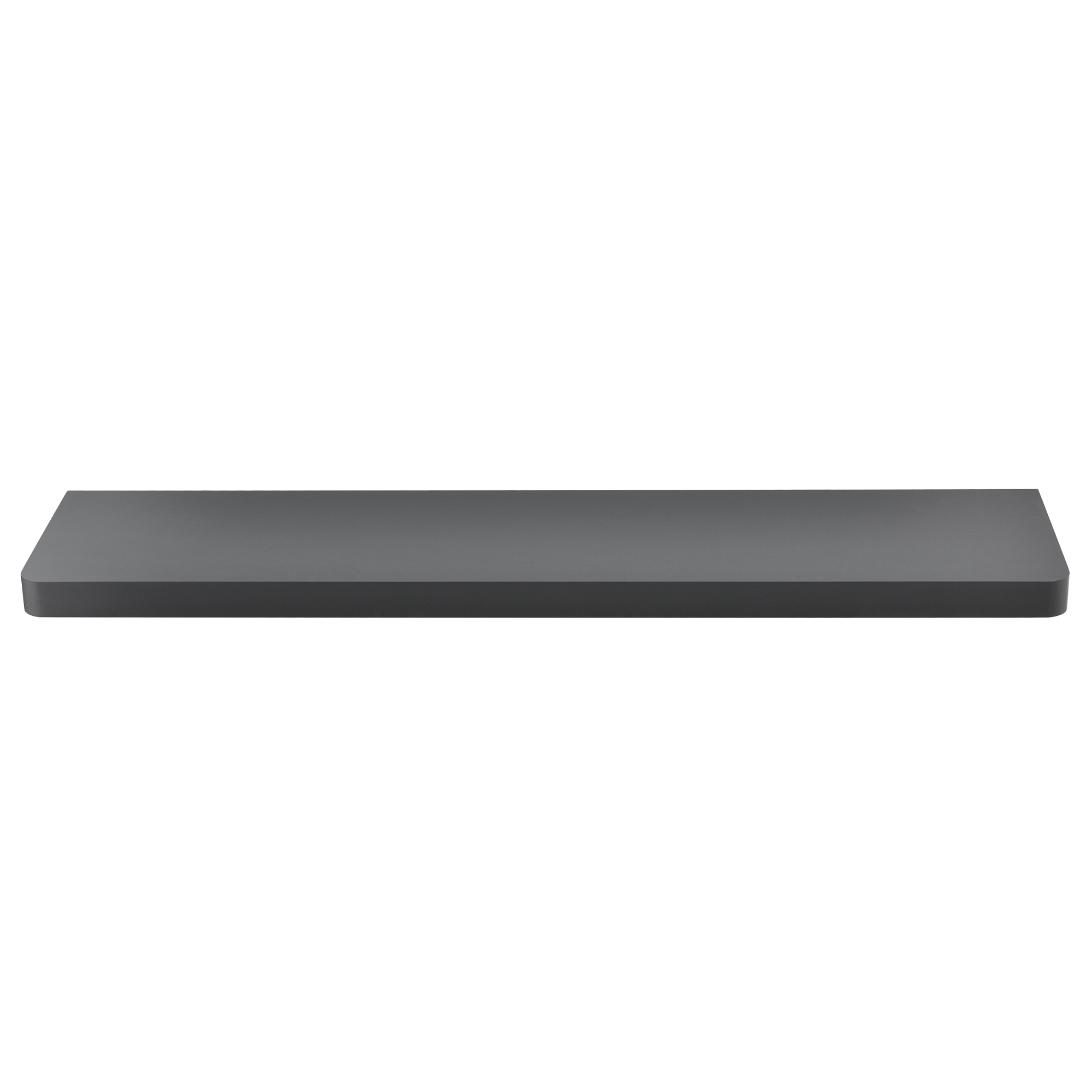 [en.casa]® Designová police na zeď - tmavě šedá - model 12