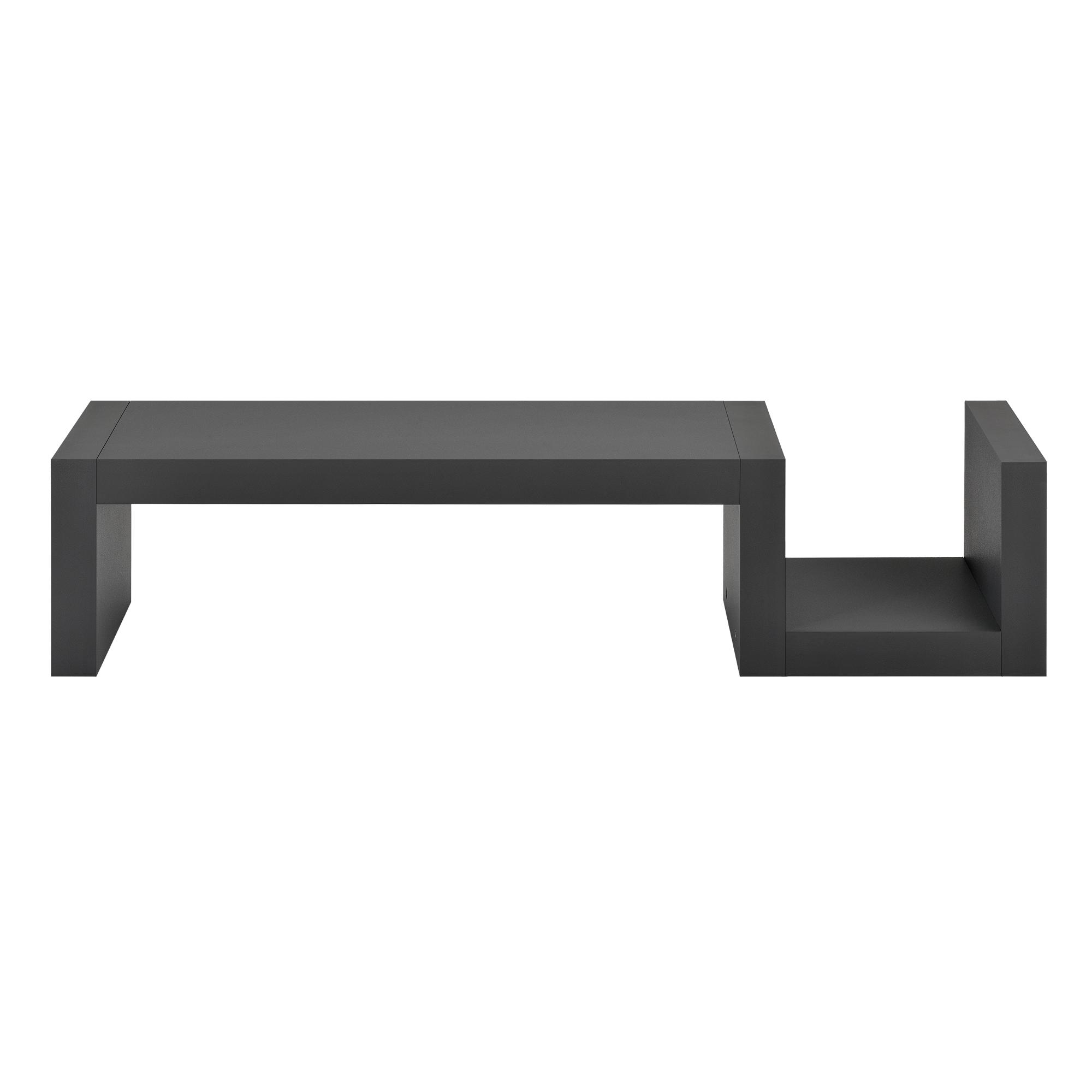 [en.casa]® Designová police na zeď - tmavě šedá - model 13