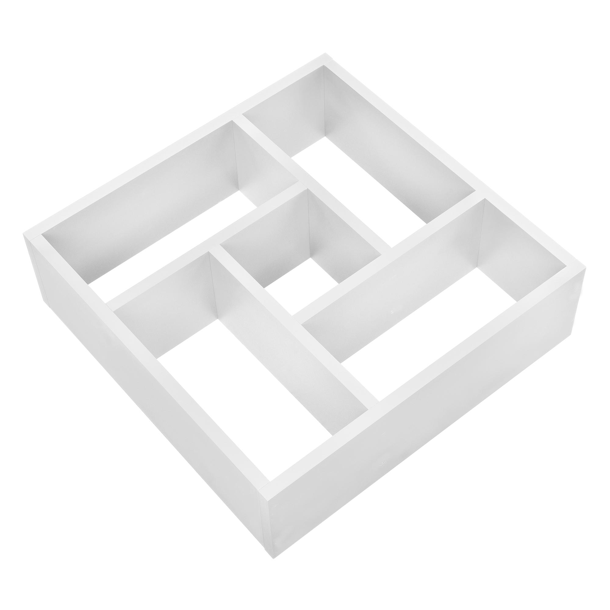 [en.casa]® Designová police na zeď - bílá - model 15