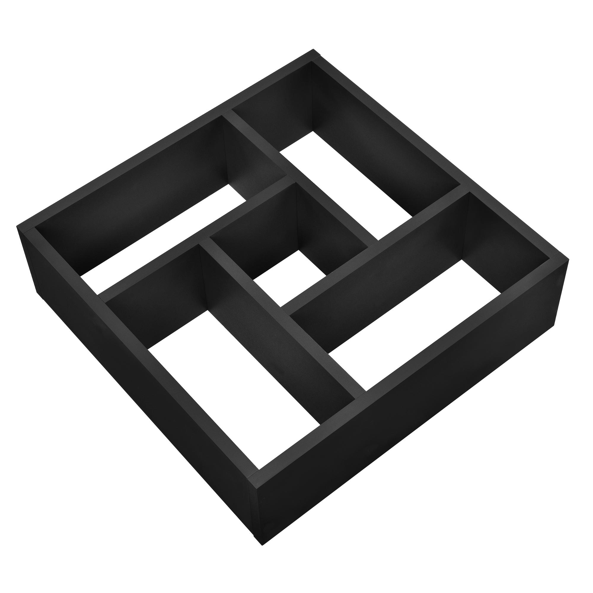[en.casa]® Designová police na zeď - černá - model 15