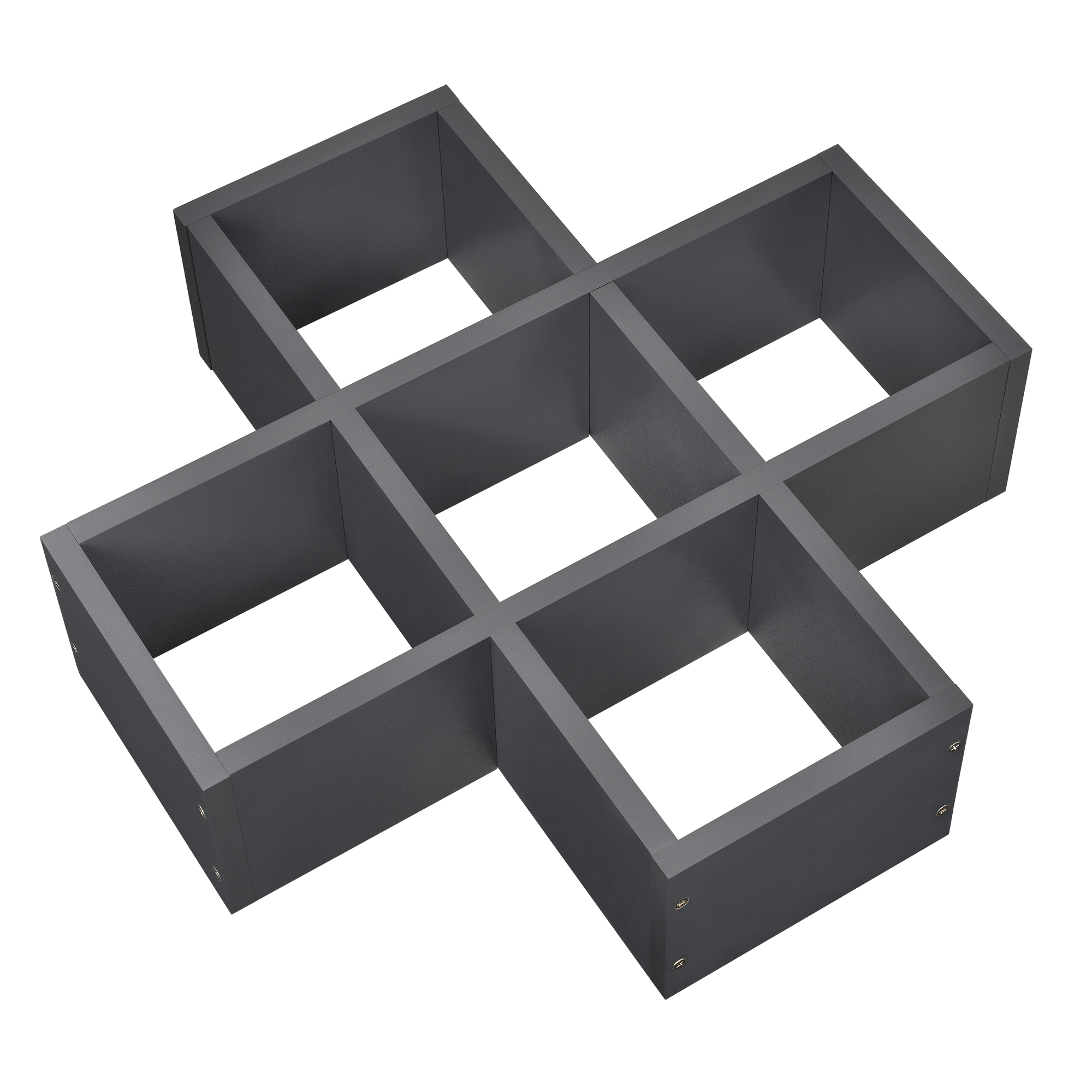 [en.casa]® Designová police na zeď - tmavě šedá - model 16