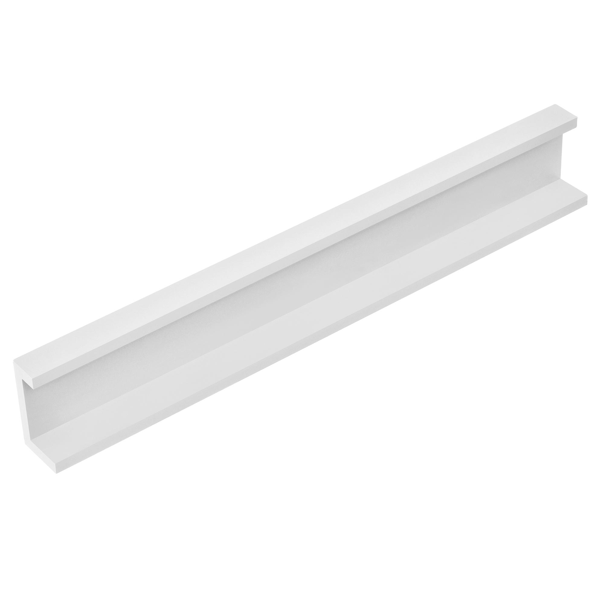 [en.casa]® Designová police na zeď - bílá - model 18