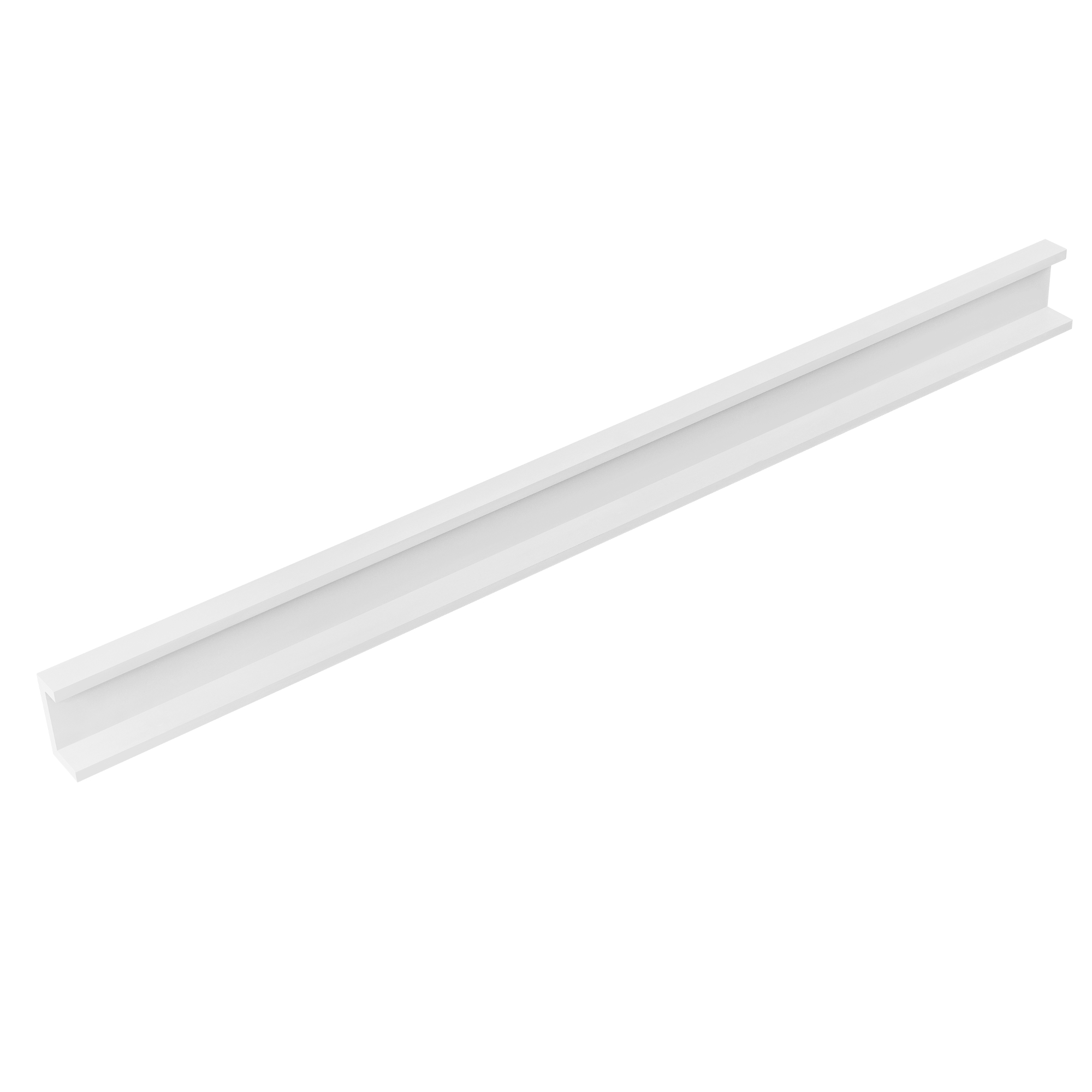 [en.casa]® Designová police na zeď - bílá - model 19