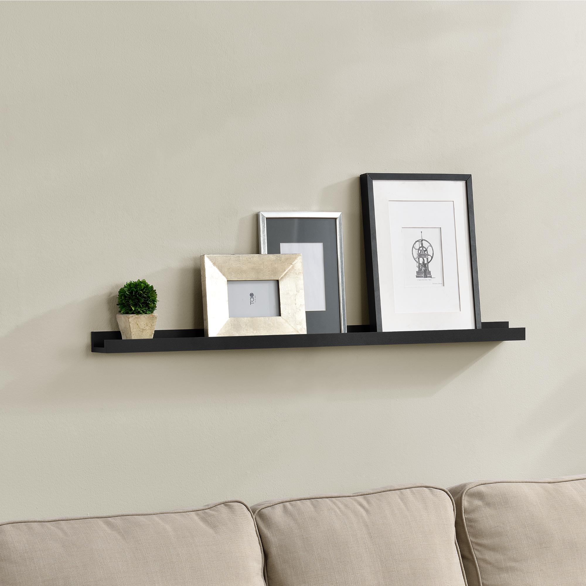 [en.casa]® Designová police na zeď - černá