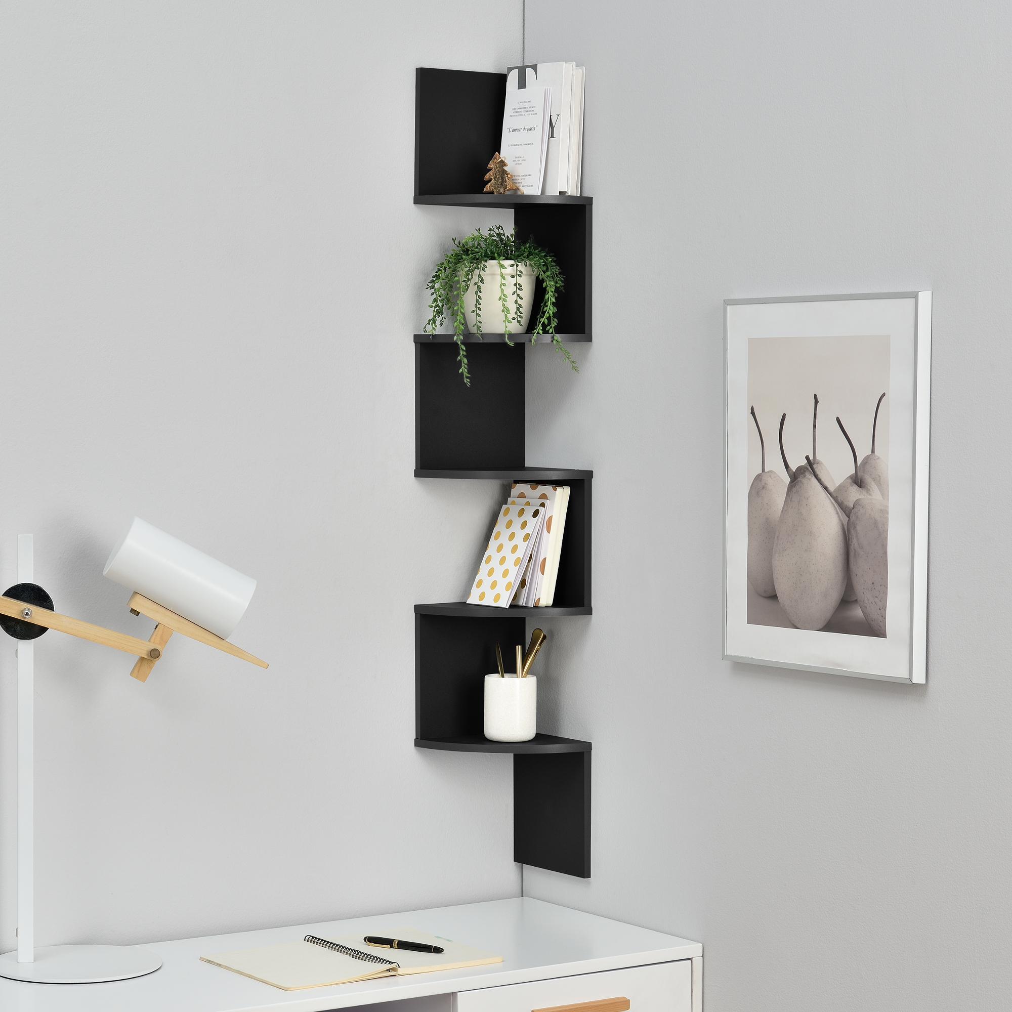 de la pared estante negro x x cm mdf