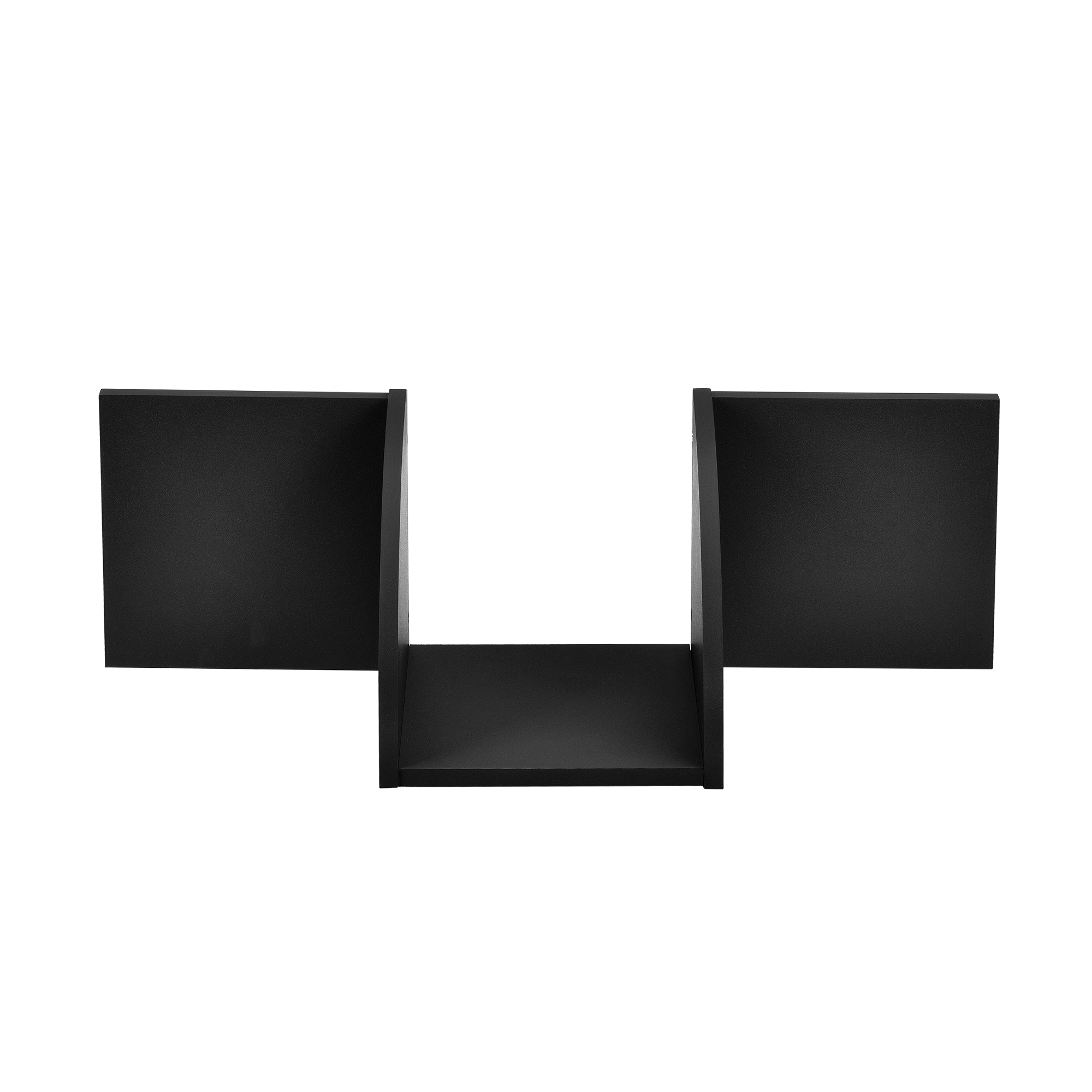 [en.casa]® Designová police na zeď - černá - model 26