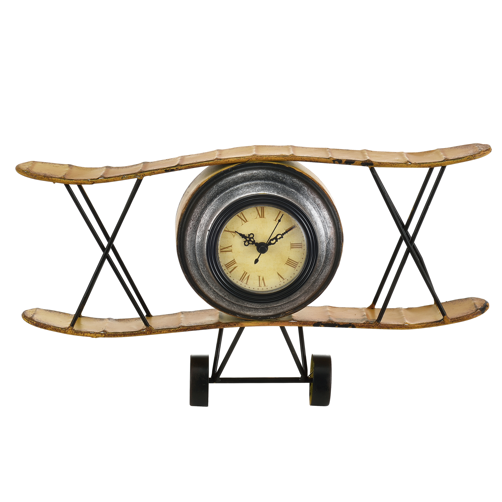 horloge murale avion m tal d co design horloge analogue murale ebay. Black Bedroom Furniture Sets. Home Design Ideas