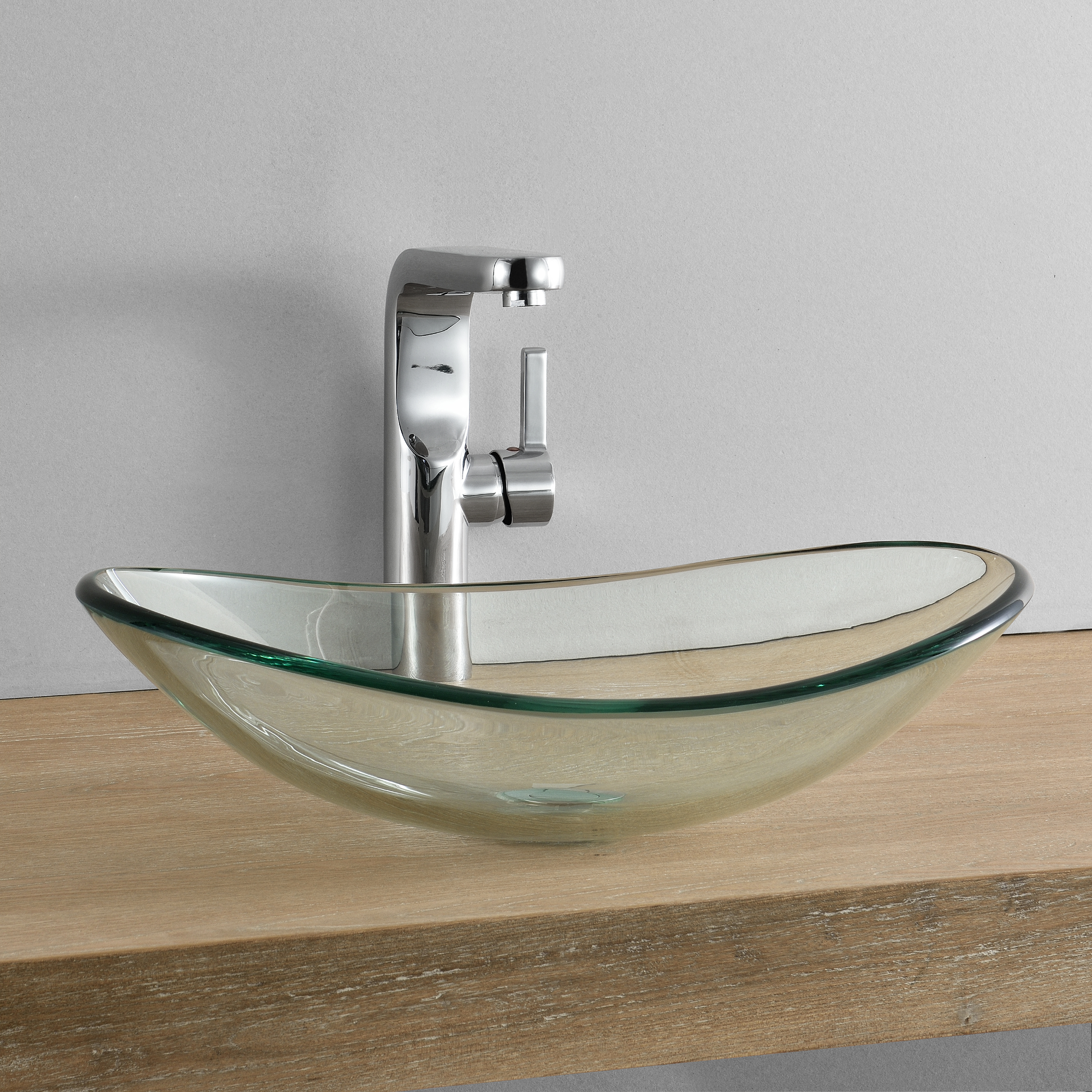 wash basin oval washbowl 47x31cm glass basin counter basin ebay. Black Bedroom Furniture Sets. Home Design Ideas