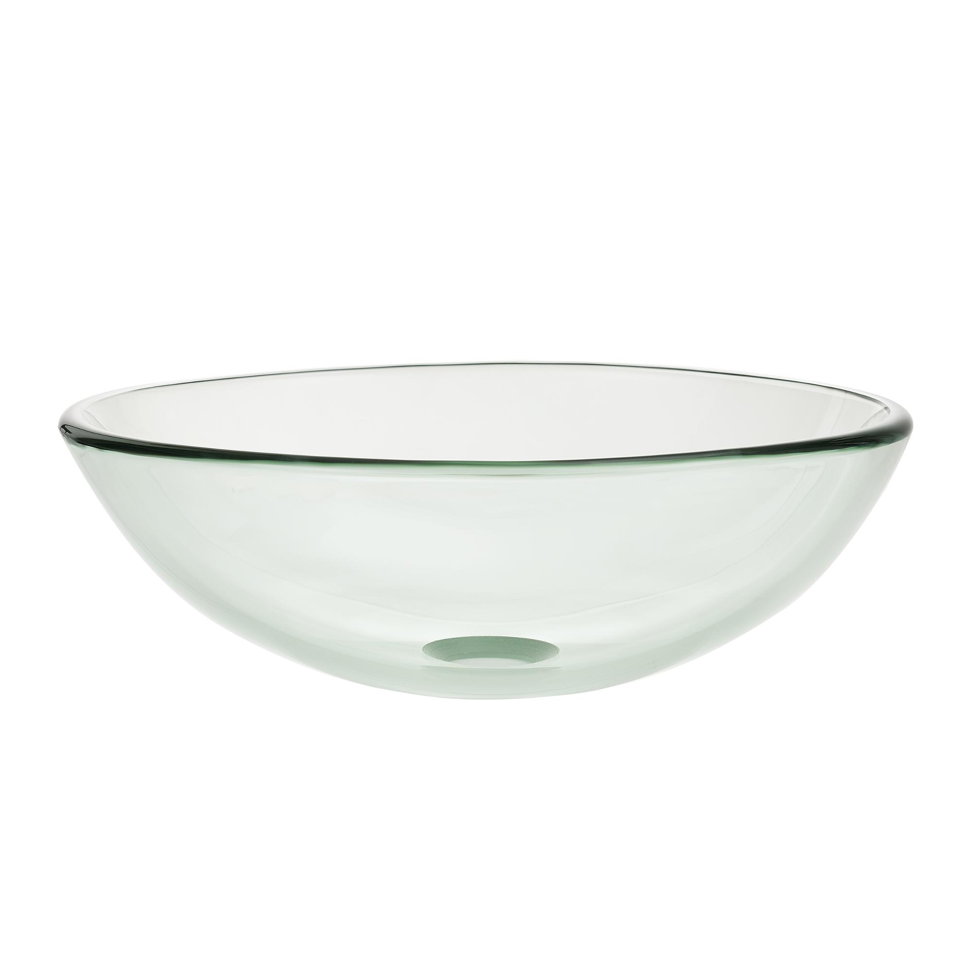 waschbecken rund waschschale 42cm glas waschtisch aufsatzbecken bad ebay. Black Bedroom Furniture Sets. Home Design Ideas