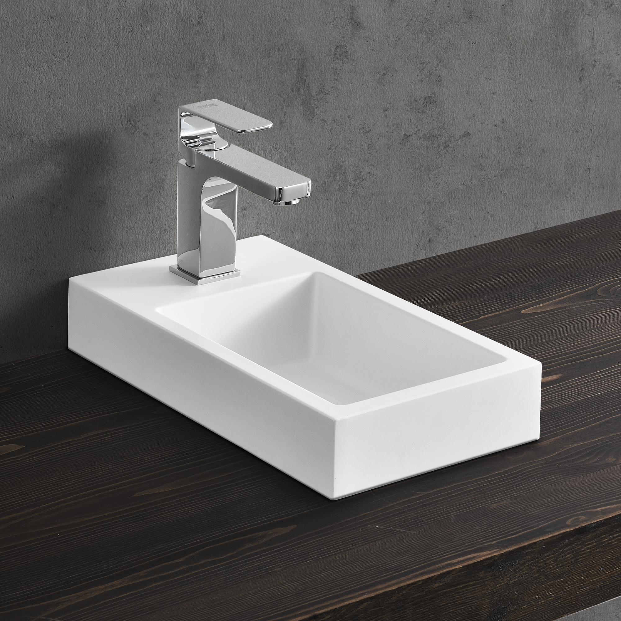 waschbecken wei 40x22cm aufsatzwaschbecken handwaschbecken g ste wc ebay