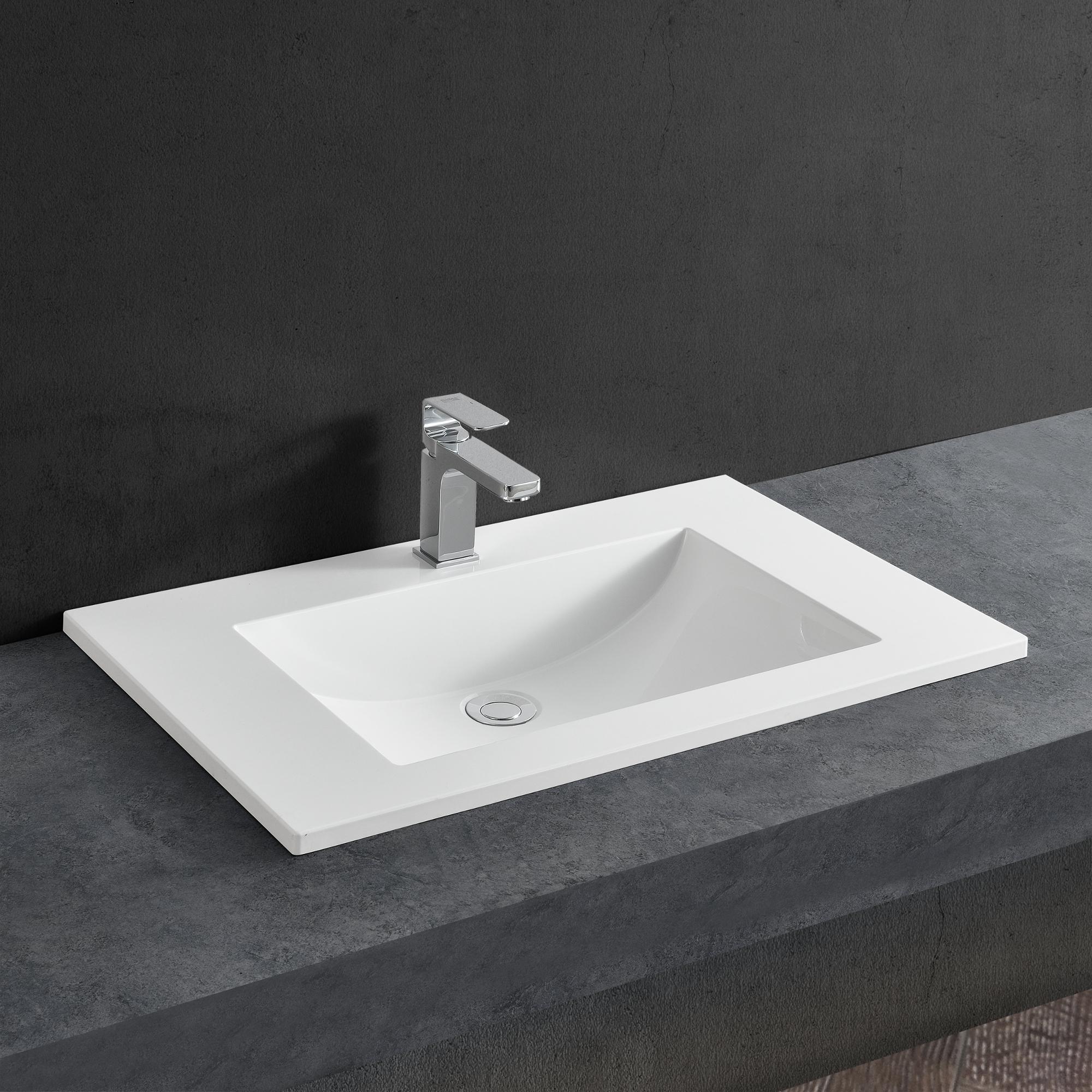 Como Instalar Lavabo Bano.Detalles De Neu Haus Lavabo Blanco 60x46cm Empotrado Para Instalar Mueble Bano
