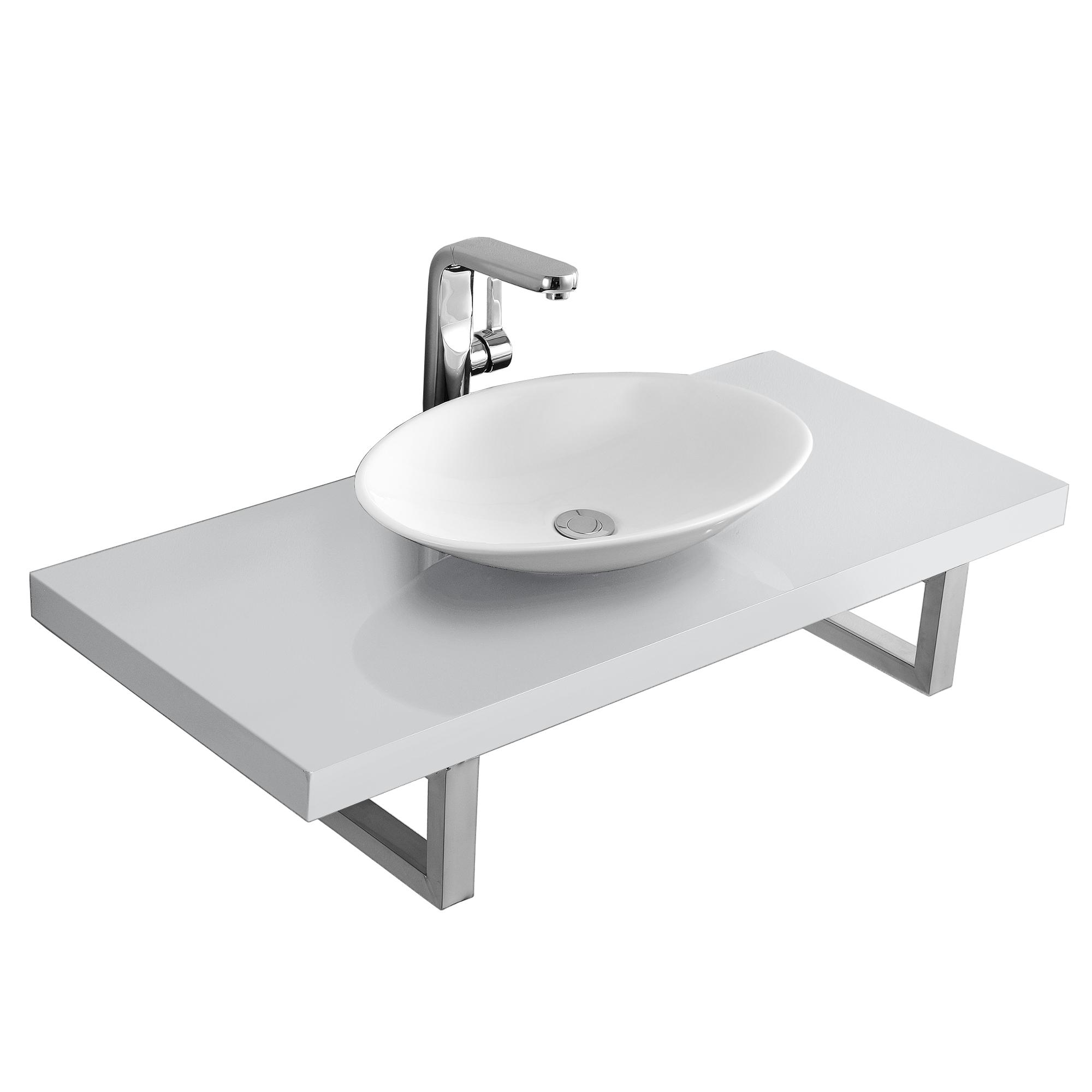 Waschtischplatte mit aufsatzbecken - Waschtischplatte weiay ...