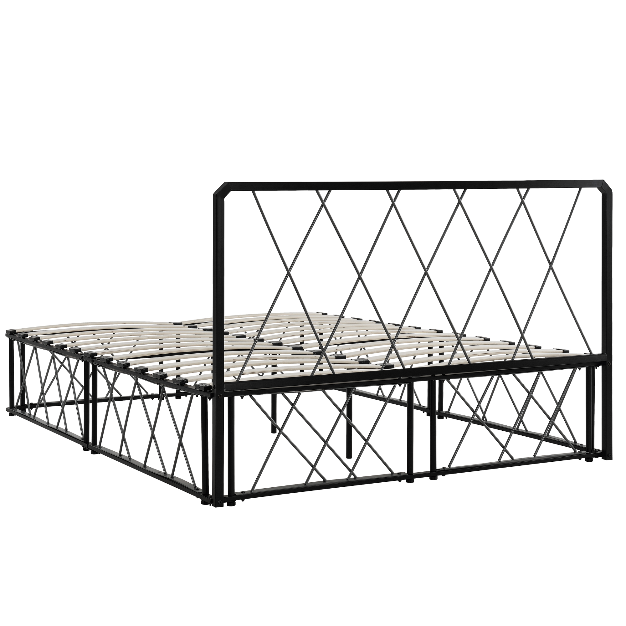 metallbett 140x200 schwarz grau mit matratze design bett schlafzimmer ebay. Black Bedroom Furniture Sets. Home Design Ideas