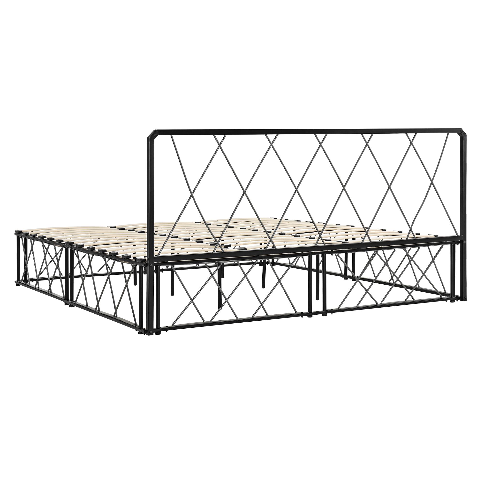 metallbett 180x200 schwarz grau bettgestell design bett schlafzimmer ebay. Black Bedroom Furniture Sets. Home Design Ideas