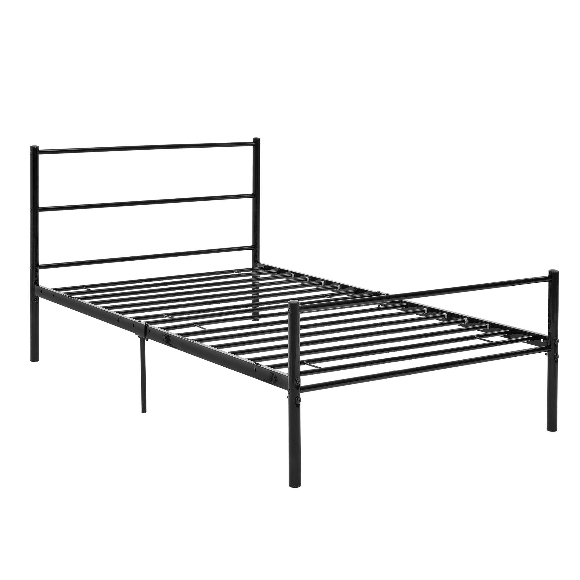 Cama de metal 90x200 negro estructura de cama cama de for Estructura cama 90x200