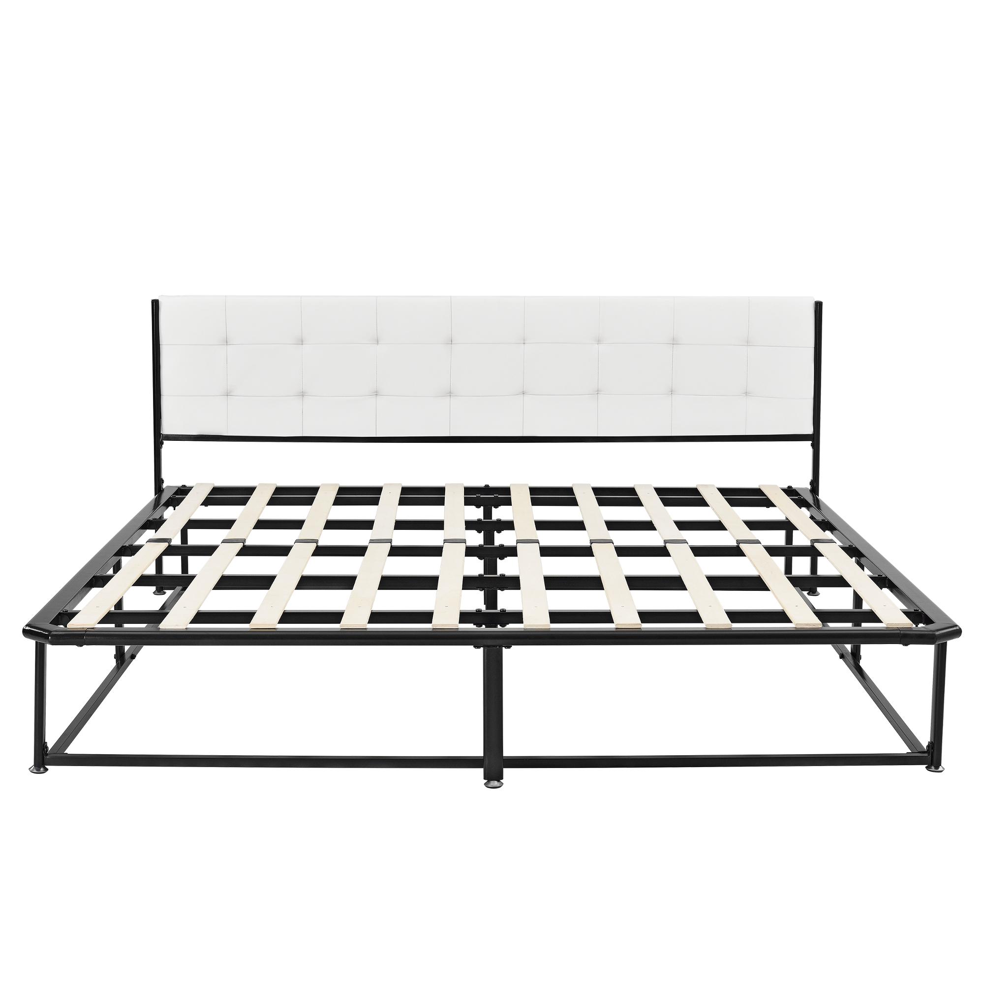 metallbett 140 180 x 200 schwarz grau matratze bett kunstleder textil ebay. Black Bedroom Furniture Sets. Home Design Ideas