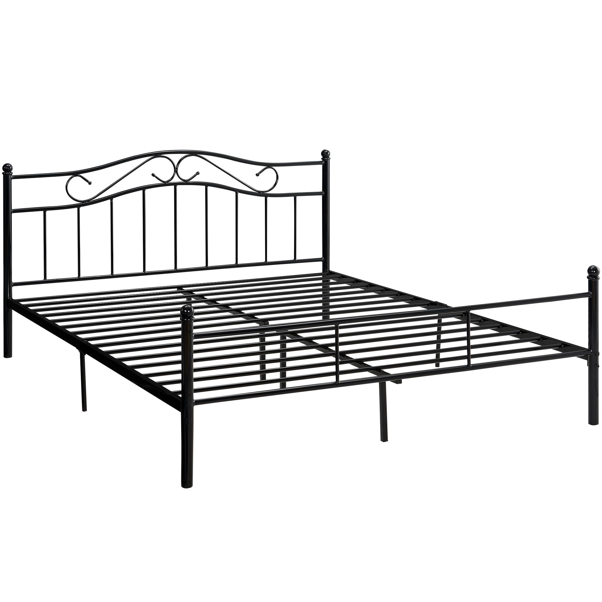 en.casa]® Metallbett 140/160/180/200x200cm Bett Bettgestell ...