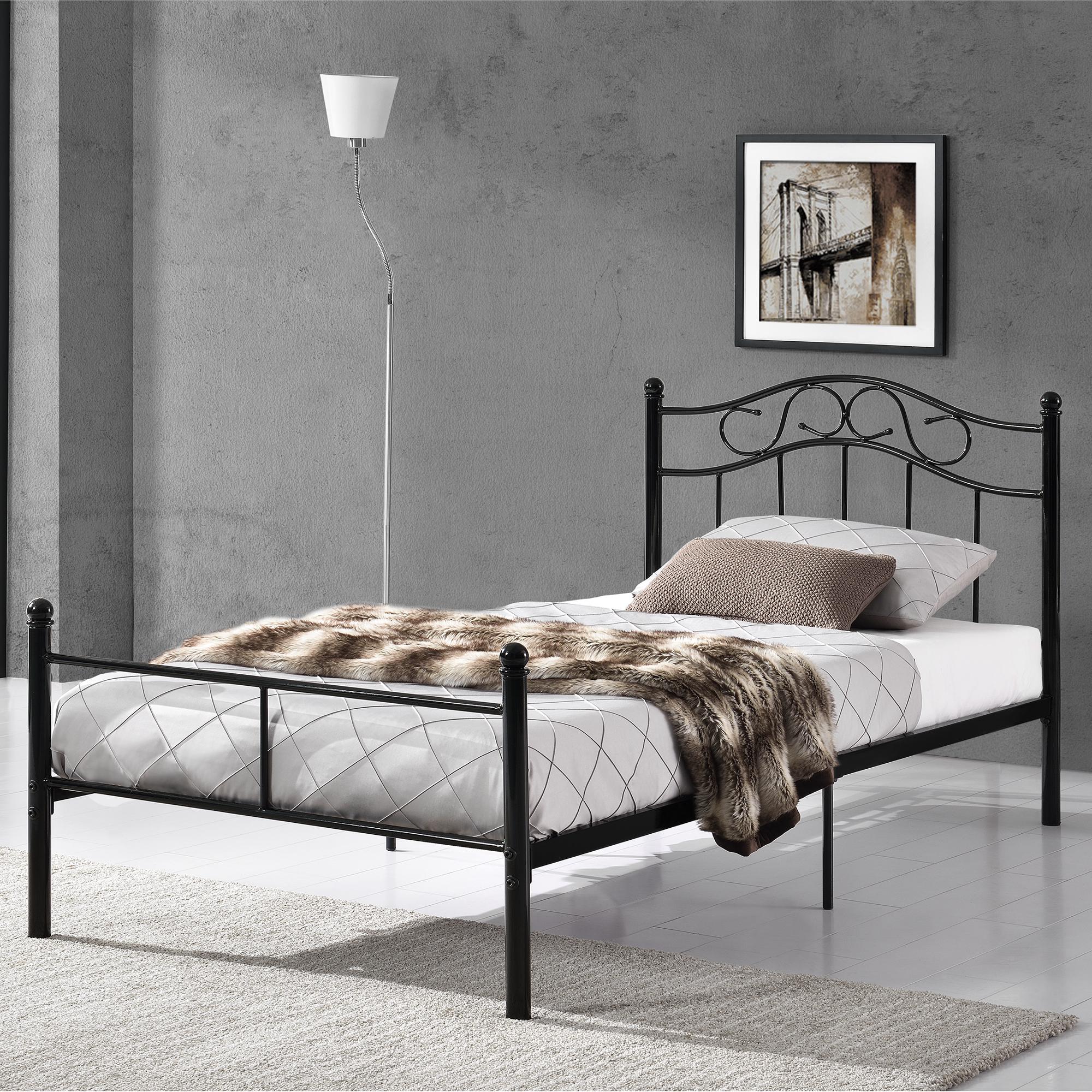 metallbett 90 120 140 180 200x200 bett bettgestell doppelbett ehebett ebay. Black Bedroom Furniture Sets. Home Design Ideas